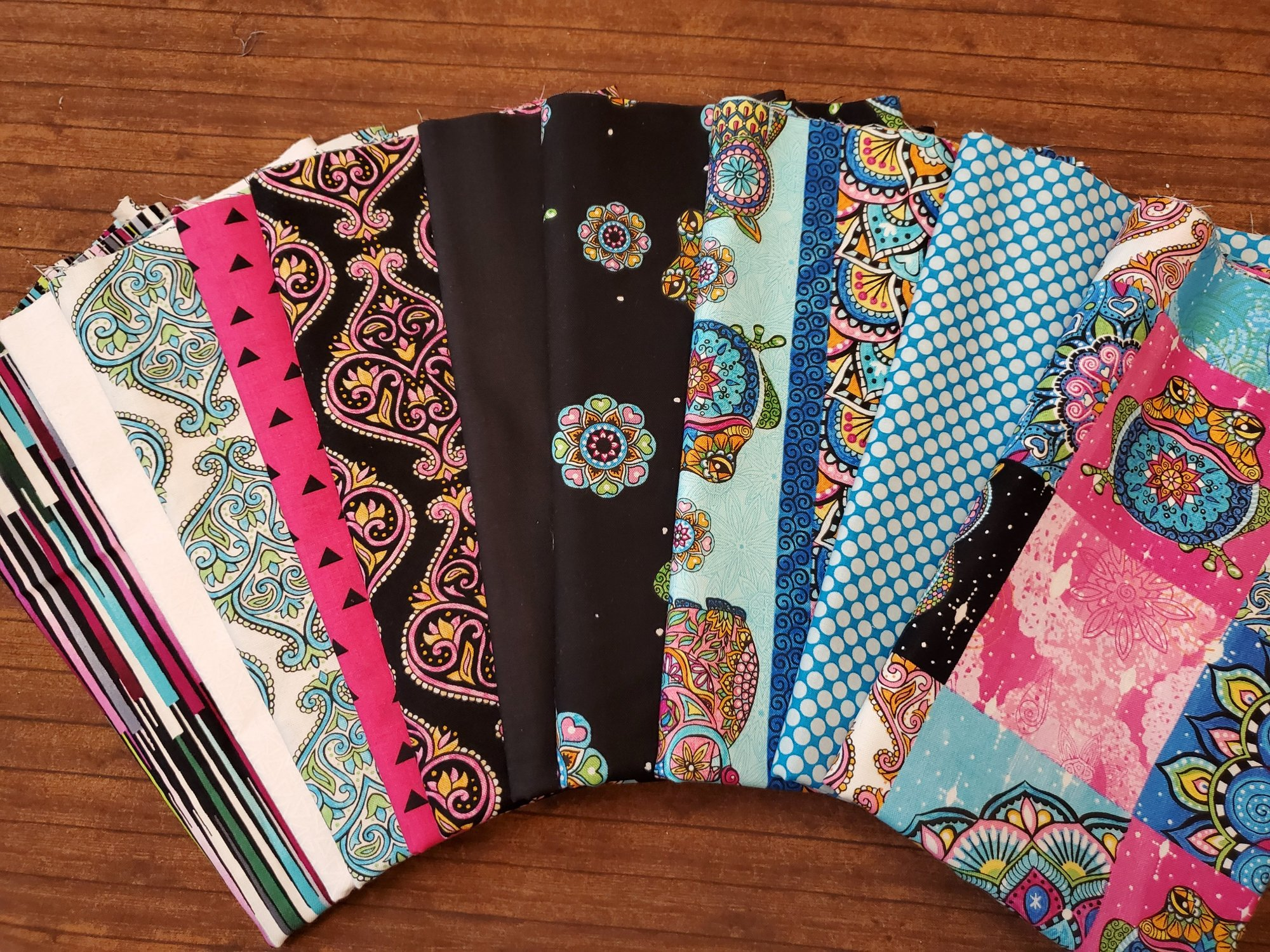 Mandala Tango by Hope Yoder for Blank Quilting - 10 Piece Half Yard Bundle Pack