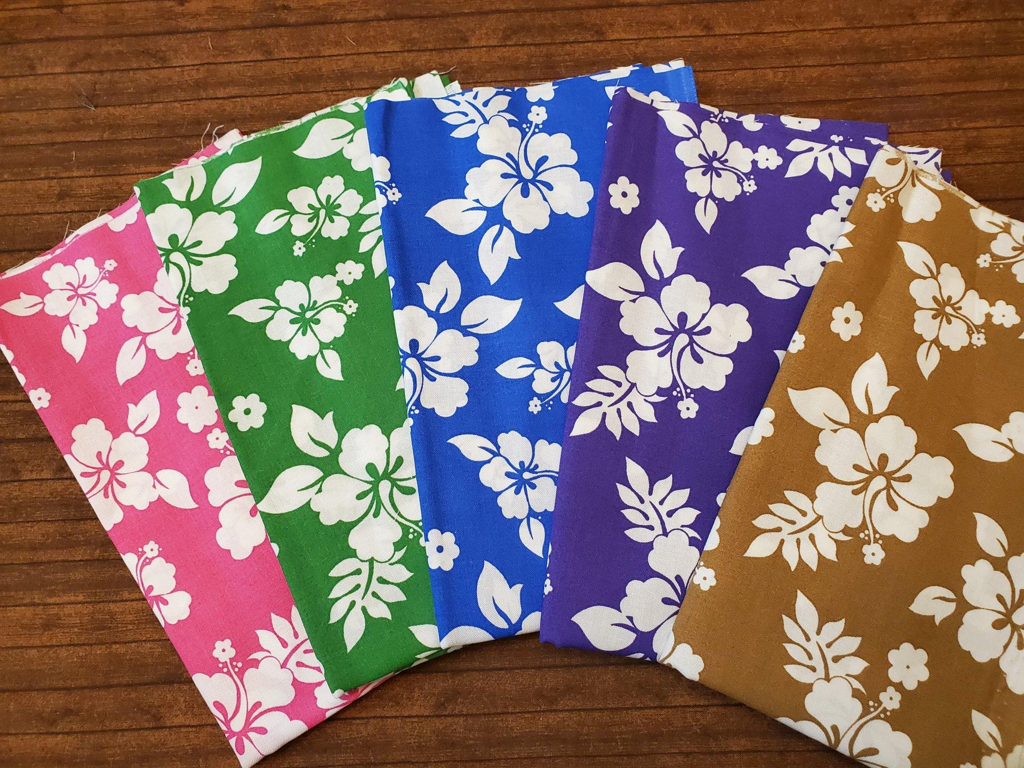 Tropical Hibiscus - 5 Piece Half Yard Bundle Pack