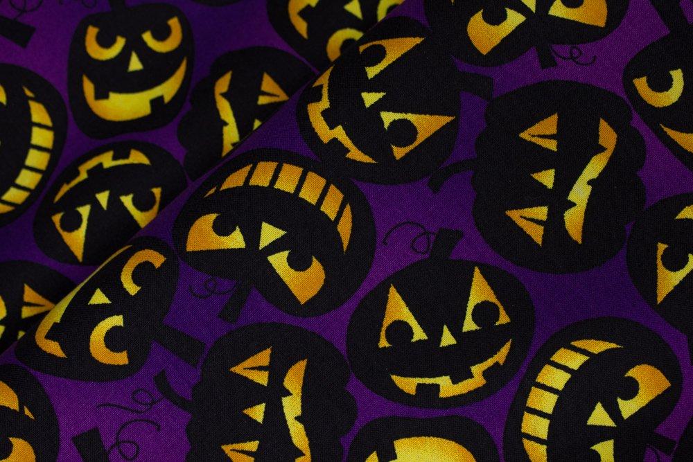 Black Jack-O-Lanterns on Purple