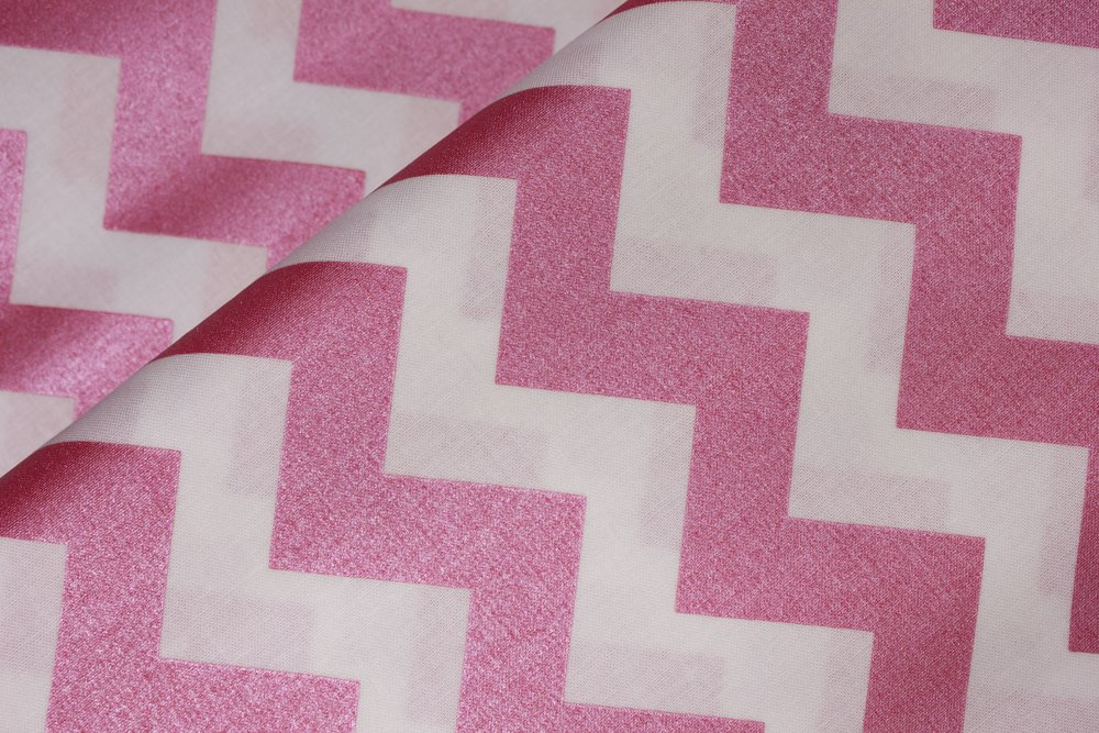 Pearlized Pink Chevron:  Sparkle Chevron by Riley Blake