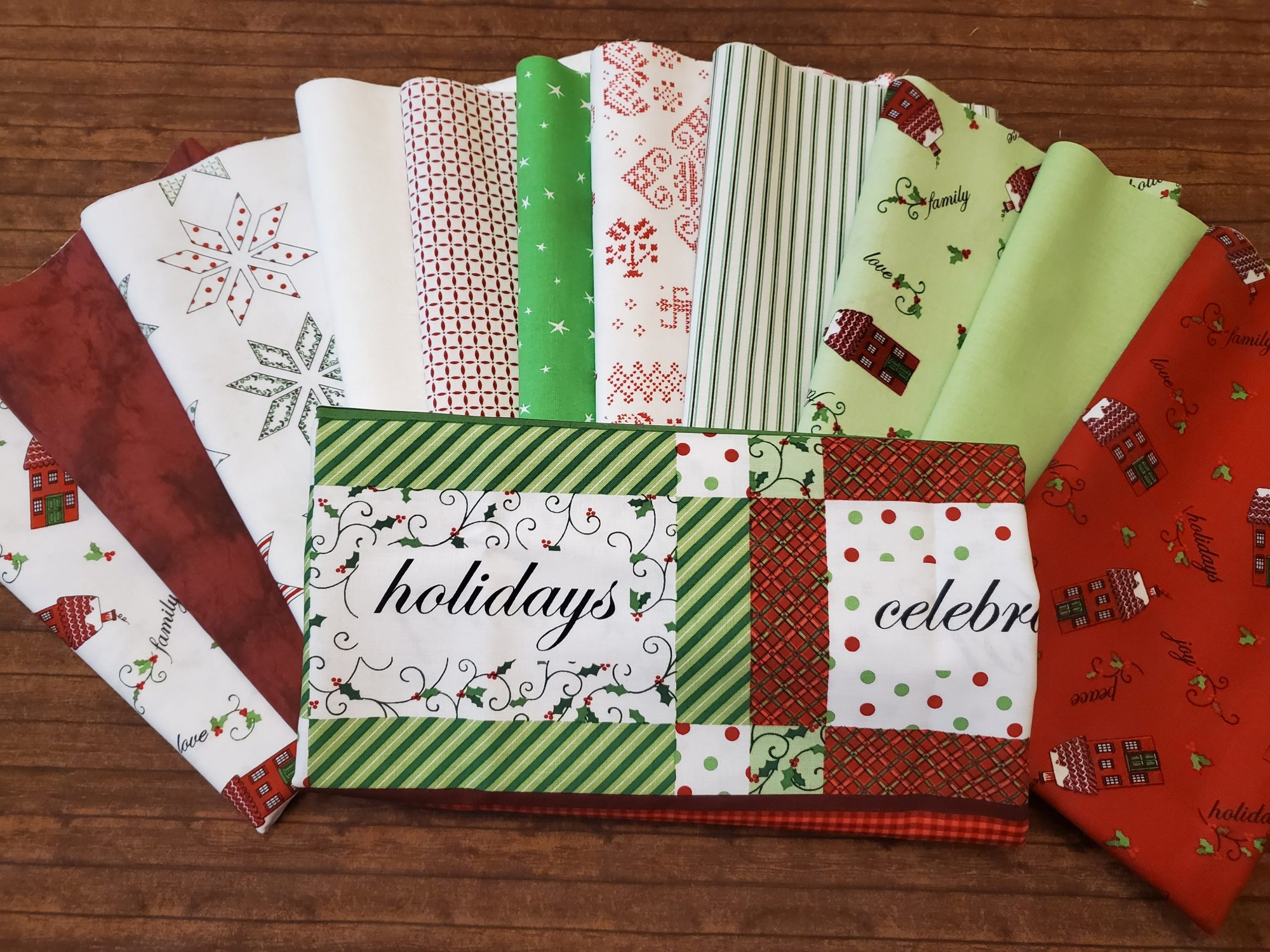 Holly Hill Christmas - 11 Piece Half Yard + Panel Bundle Pack by Mary Jane Carey for Henry Glass Fabrics