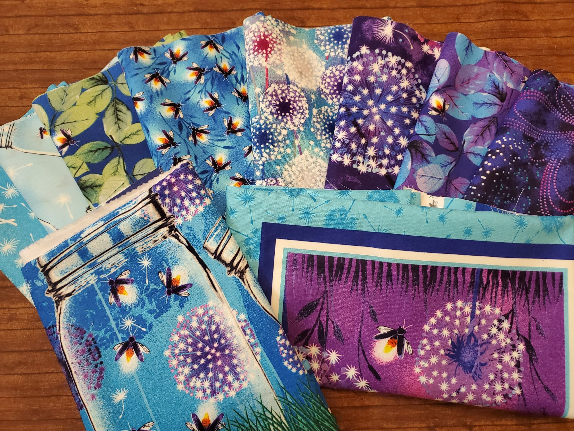 Let Your Light Shine - 8 half yards plus 2 panels bundle pack - by Blank Quilting - all Glow in the Dark Fabrics