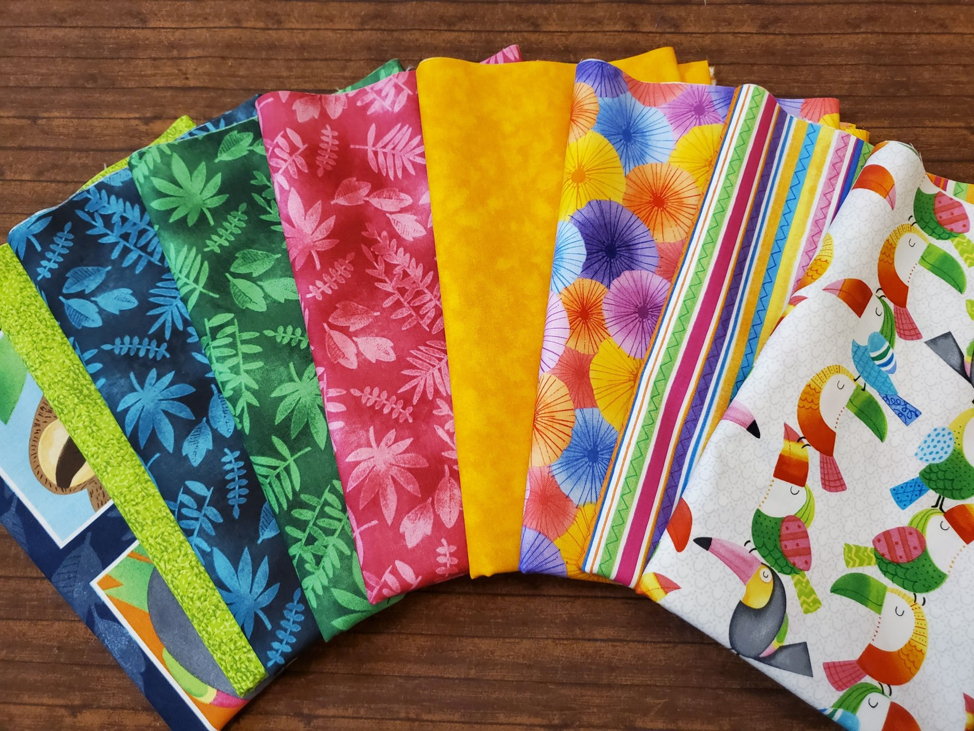 Tropical Zone by Color Pop Studio for Blank Quilting - 9 Piece Half Yard Bundle Pack