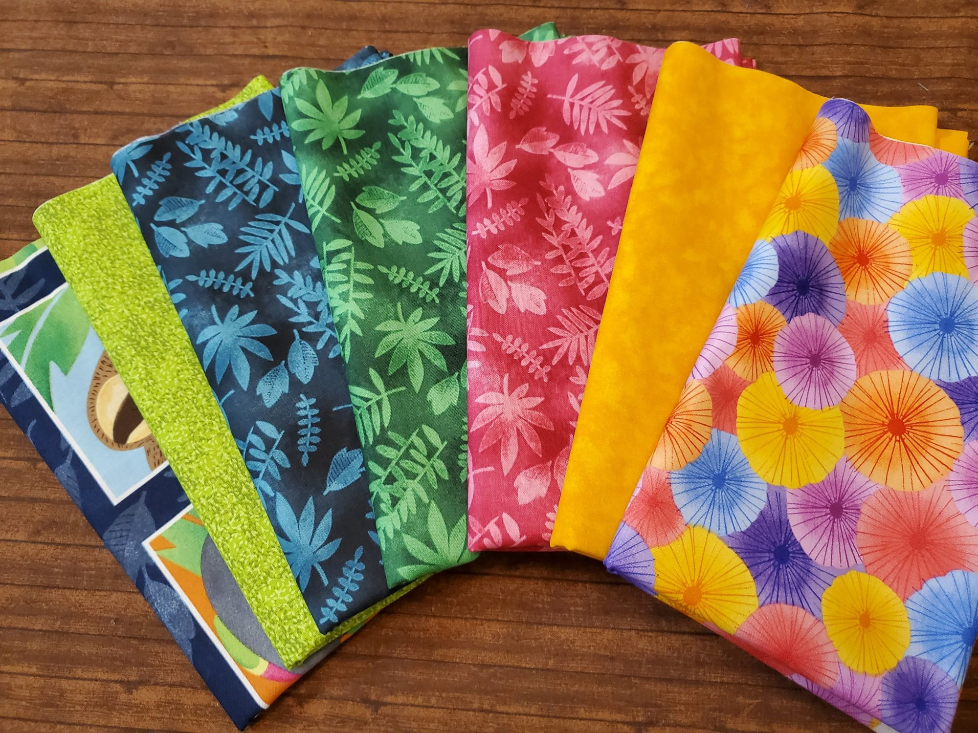 Tropical Zone by Color Pop Studio for Blank Quilting - 7 Piece Half Yard Bundle Pack