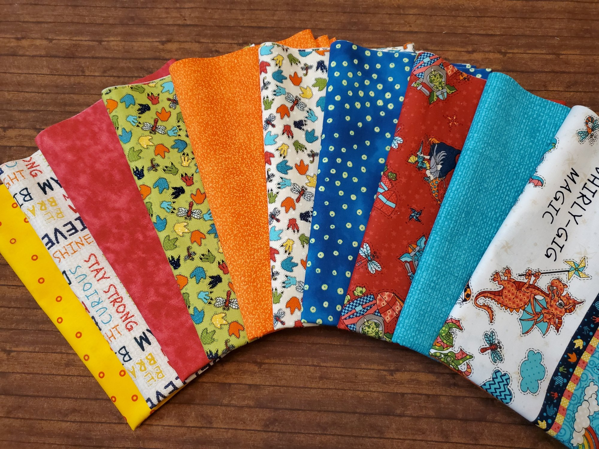 Whirlygig Magic by Leanne Anderson and Kaytlyn Kuebler for Henry Glass Fabrics - 10 Piece Half Yard Bundle Pack