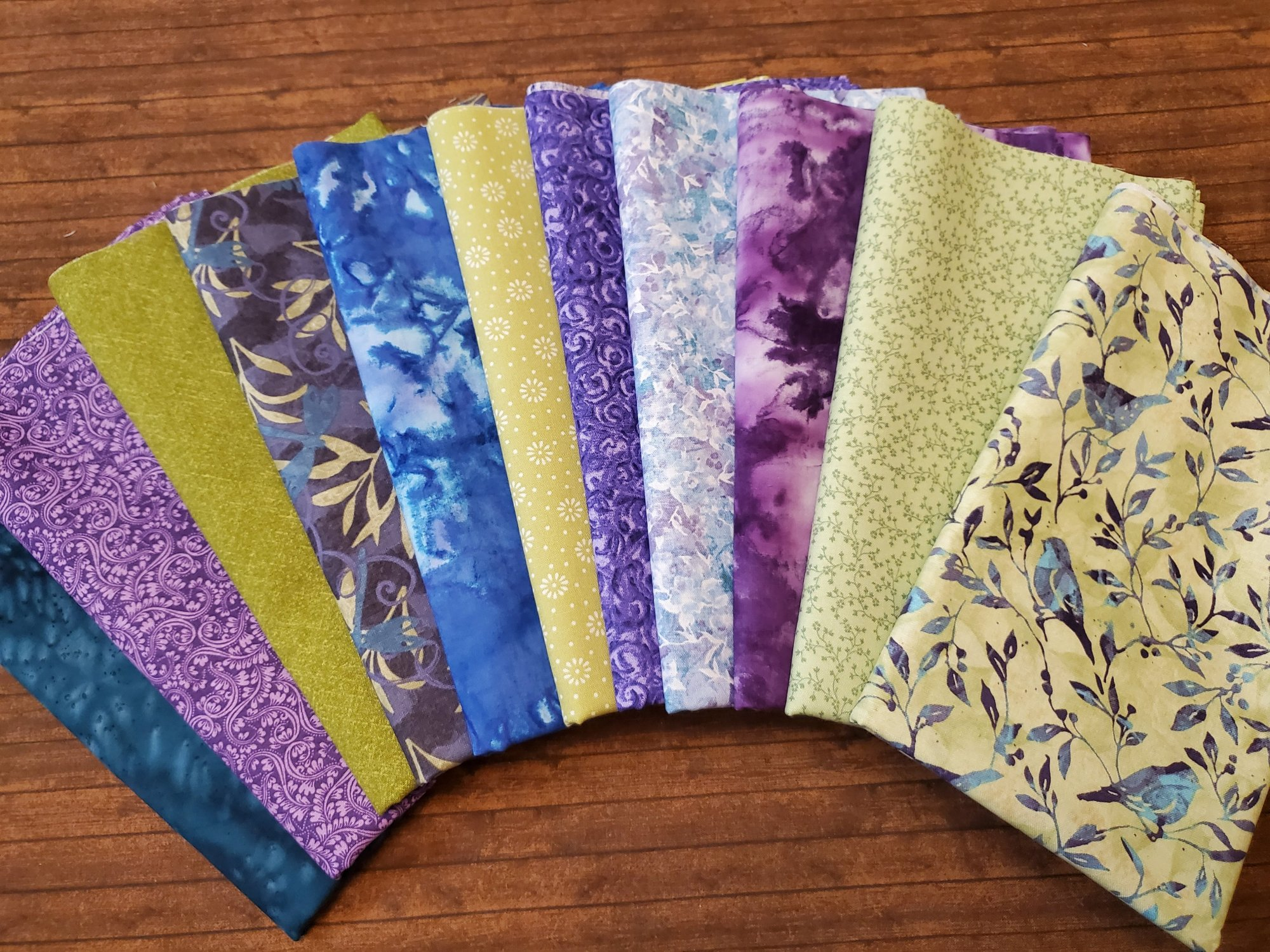 Jasmine by Springs Creative and others - 11 Piece Half Yard Bundle Pack
