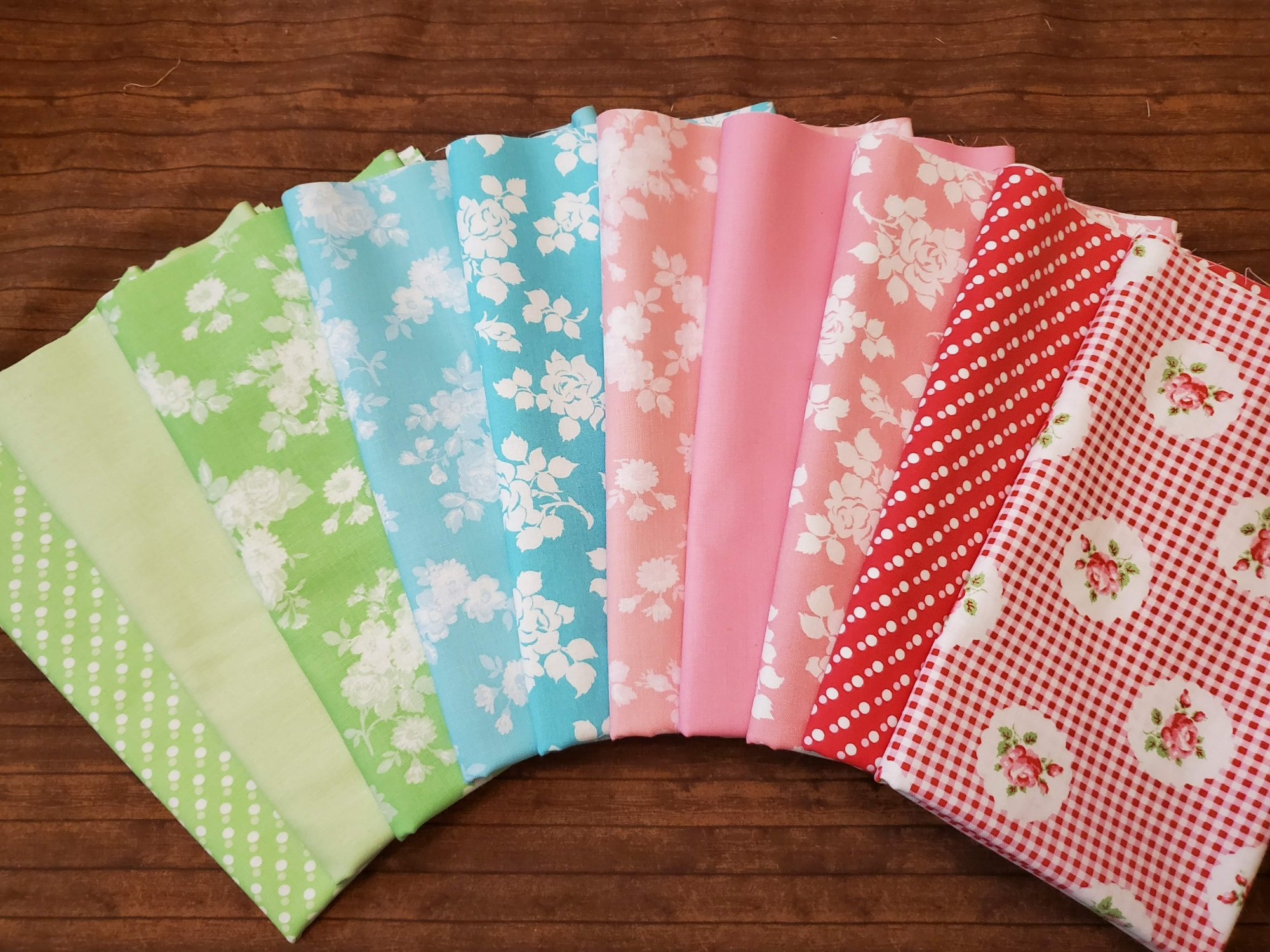 Janey by Tanya Whalen for Clothworks - 10 Piece Half Yard Bundle Pack