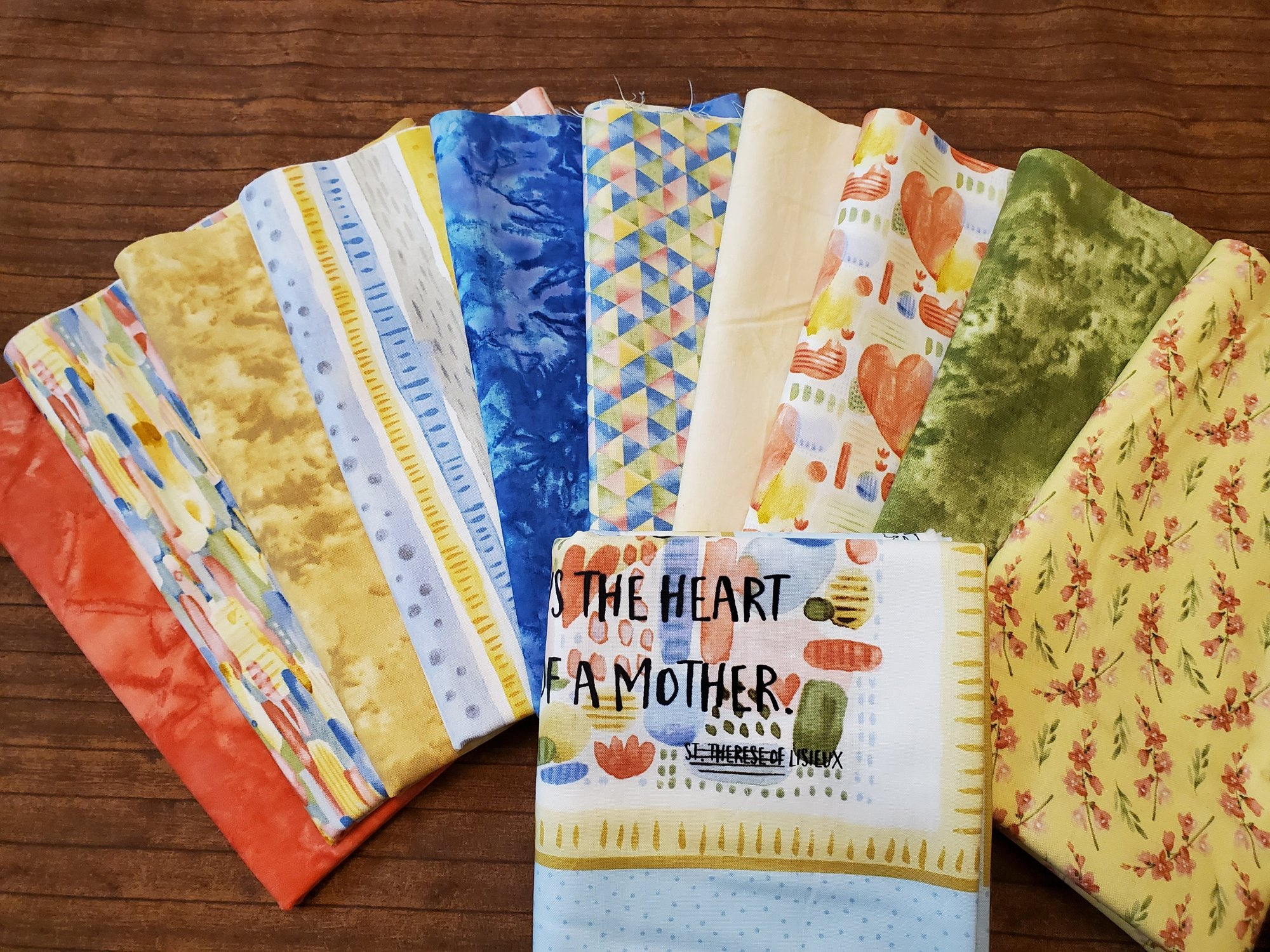 Blessings   - 10 Piece Half Yard  + panel Bundle Pack by Jane Alison for Henry Glass