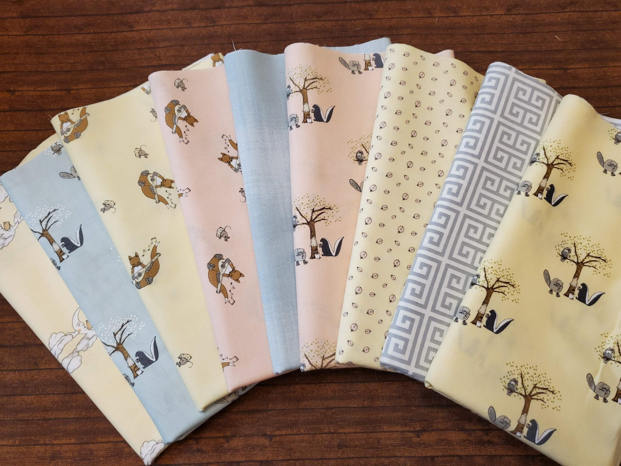 Hushabye Hollow by Lydia Nelson for MODA - 9 Piece Half Yard Bundle Pack