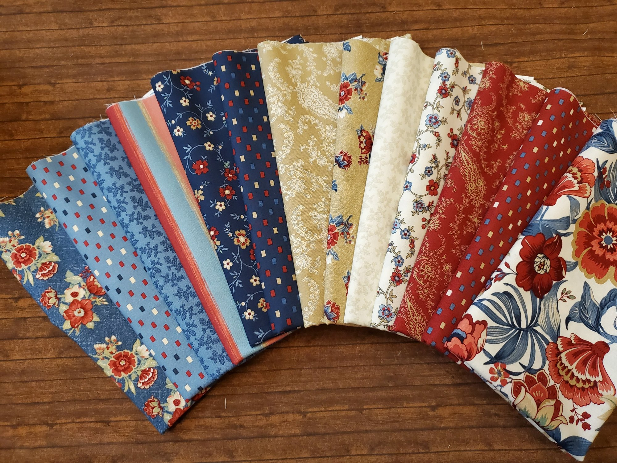 Blue Meadow by Laura Berringer for Marcus Brothers - 13 Piece Half Yard Bundle Pack