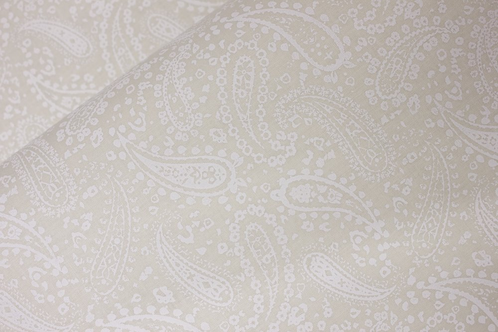 White Classic Paisley on Off-White:  Perfect Paisley
