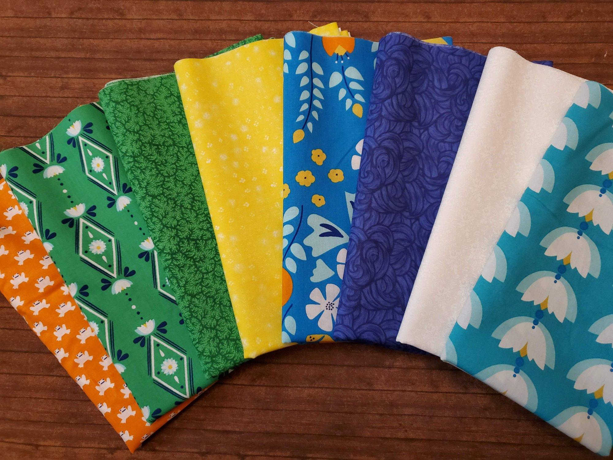 Lotus Pond - 8 piece half yard bundle pack by Rae Hoekstra for Cloud 9 Fabrics