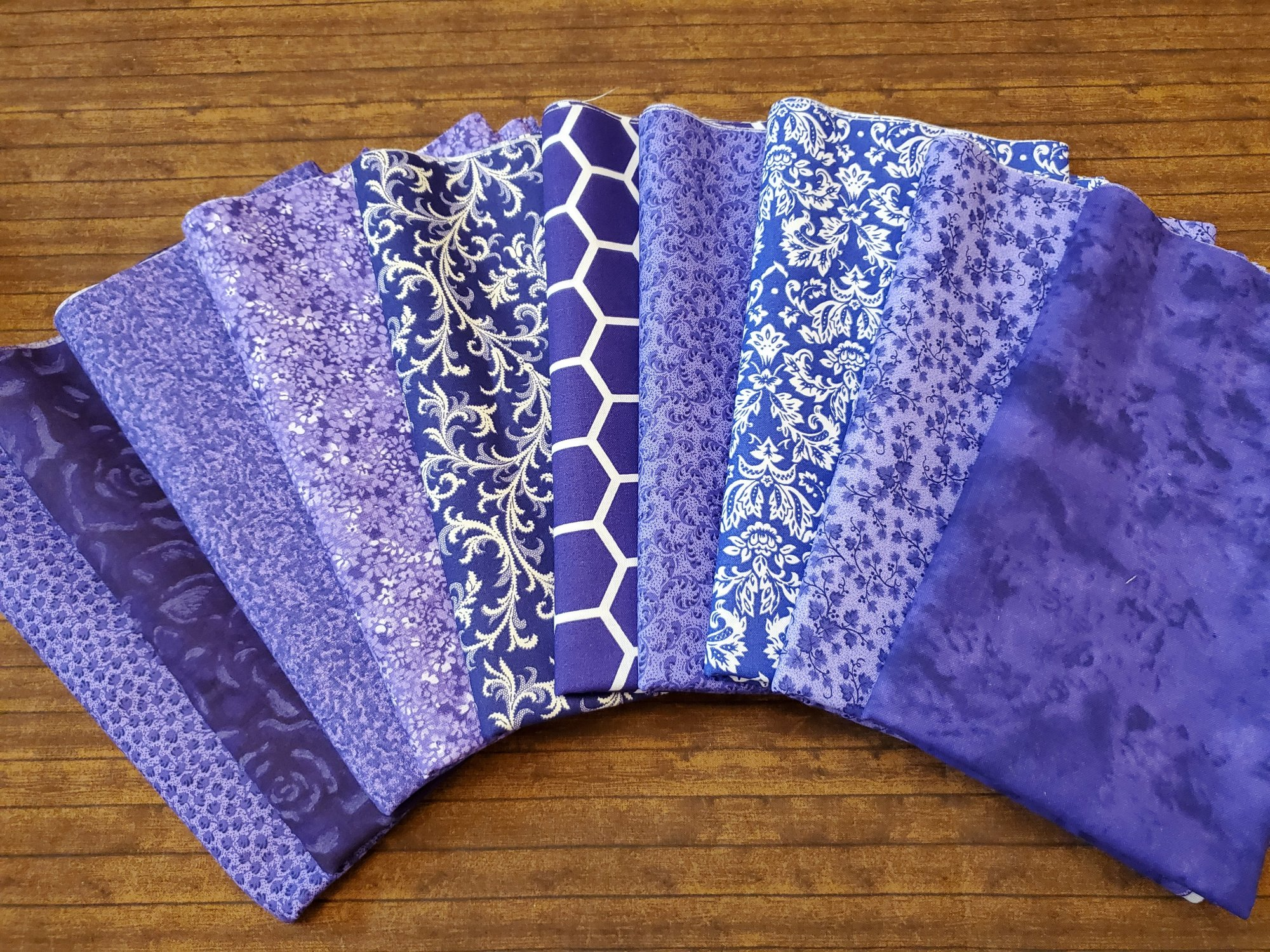 Mixed Purples - Rachael's Picks - 10 Piece Half Yard Bundle Pack