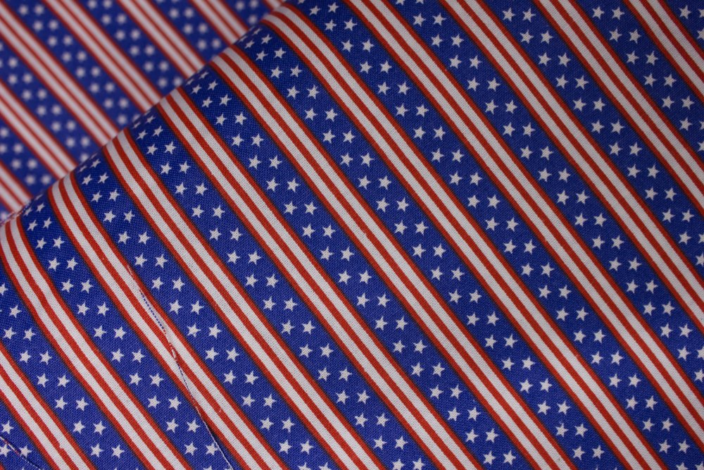 Blue Stripes with Stars Mixed in with Red and White Stripes: Patriotic