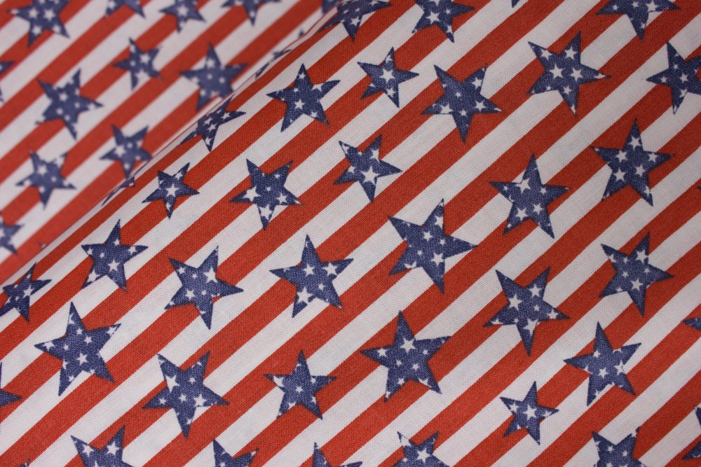 Red and White Stripes with Blue Stars Speckled with White Stars: Patriotic