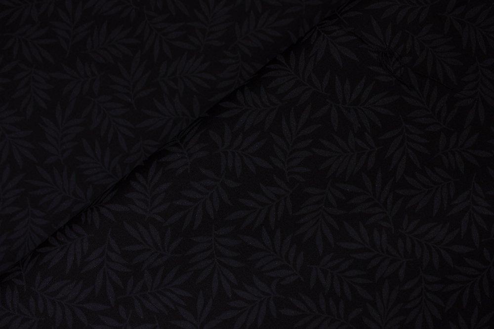 SPECIALTY FABRICS:  Black Allover Ferns on Black:  Century Black on Black by Andover Fabrics