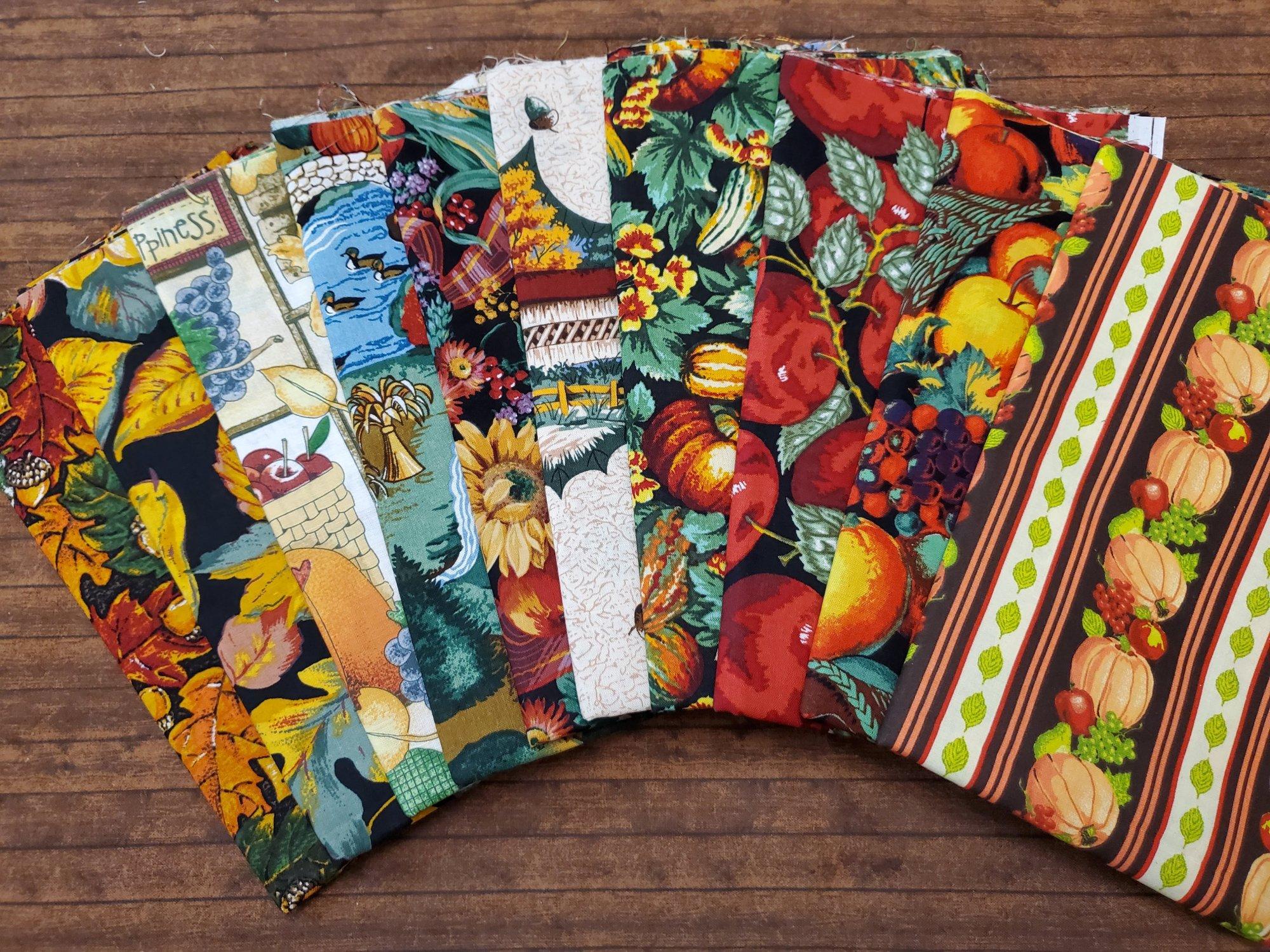 Fall #1 - 10 Piece Half Yard Bundle Pack