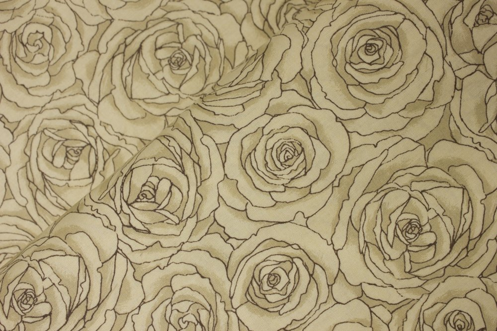 Tonal Cream Roses by Classic Cottons