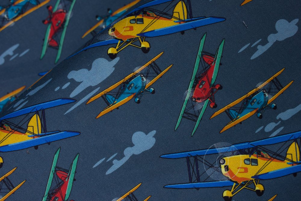 SPECIALTY FABRICS:  Small Airplanes Flying:  Airplanes by MDG Digital
