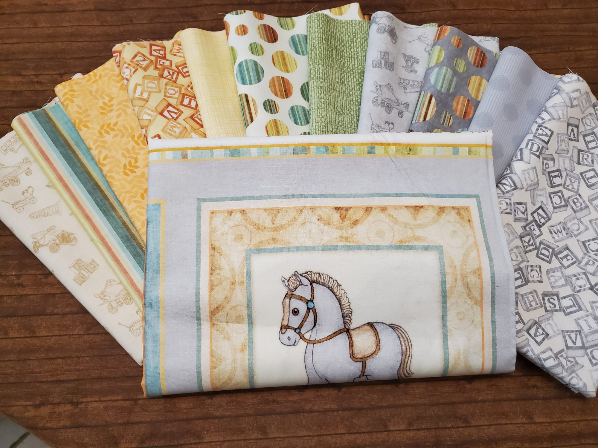 Toyland - Baby Quilt Set - 11 Piece Half Yard Bundle Pack plus panel by Quilting Treasures