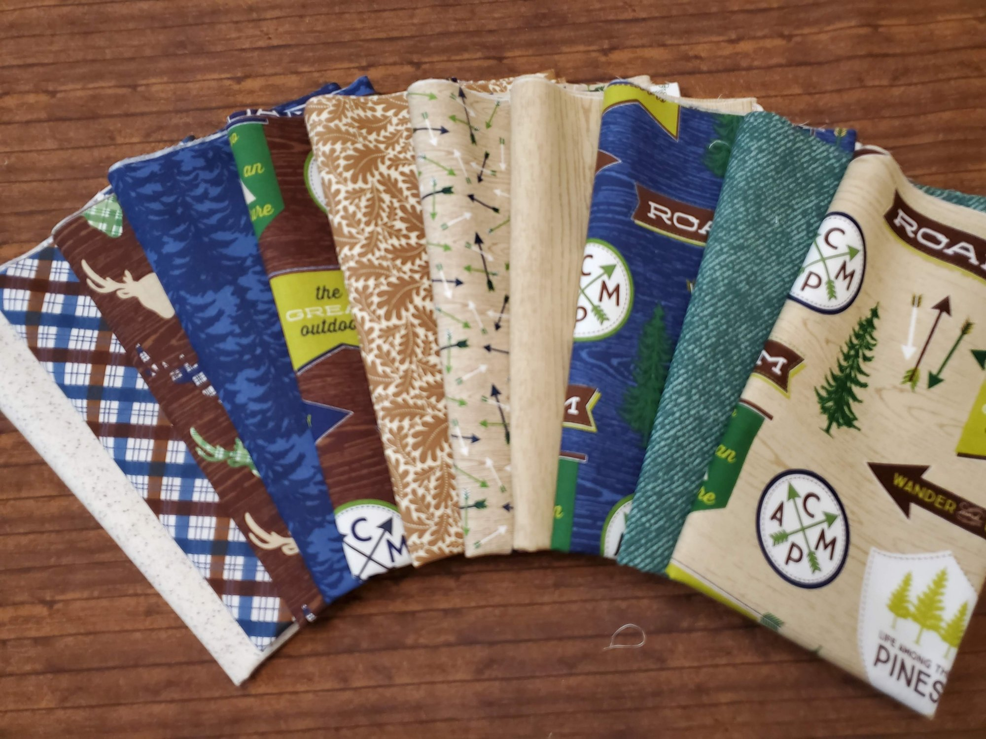 The Great Outdoors by Riley Blake Designs - 11 Piece Half Yard Bundle Pack - compiled by Ken