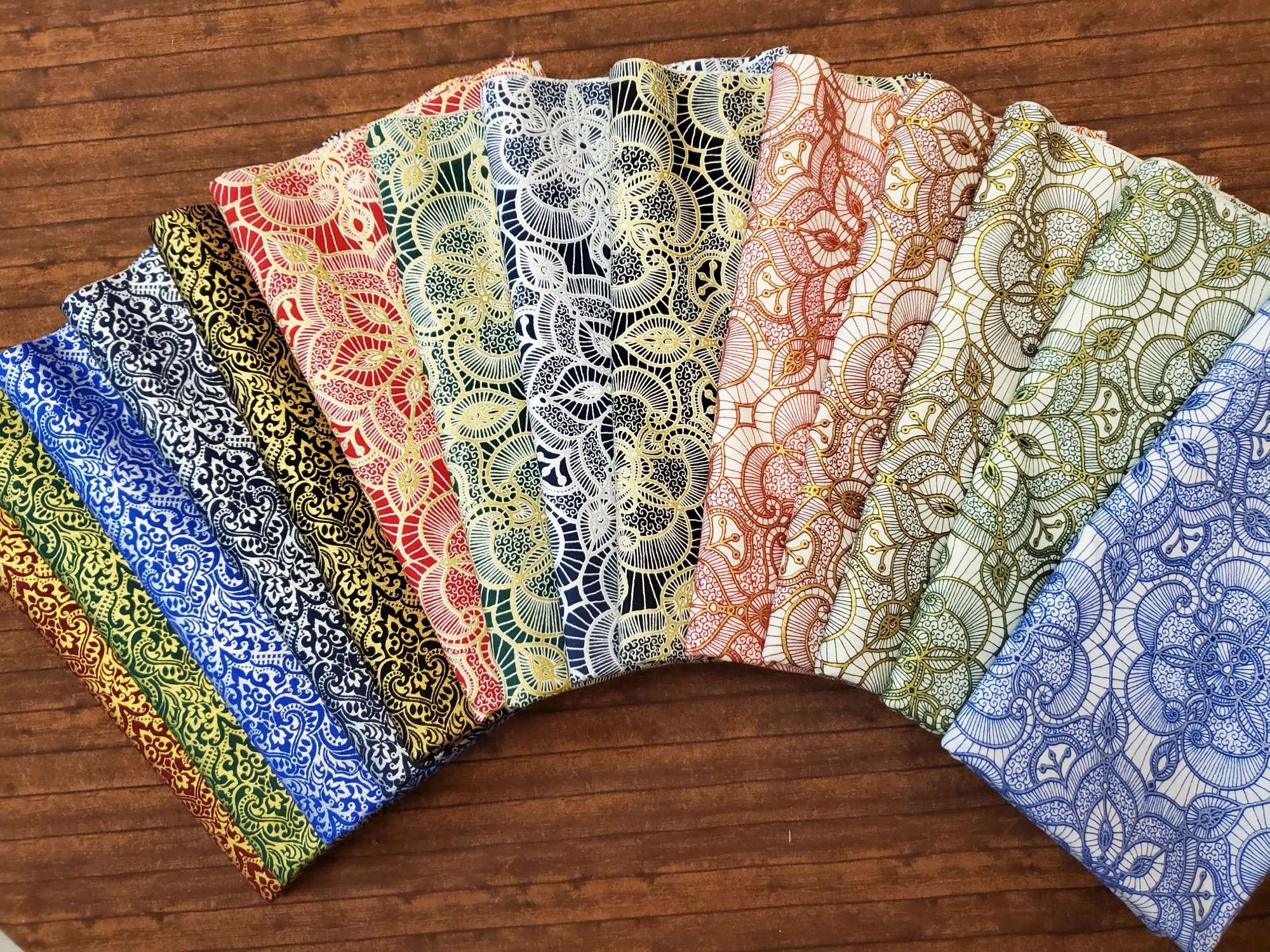 Luminous Lace  by Quilting Treasures - 14 Piece Half Yard Bundle Pack