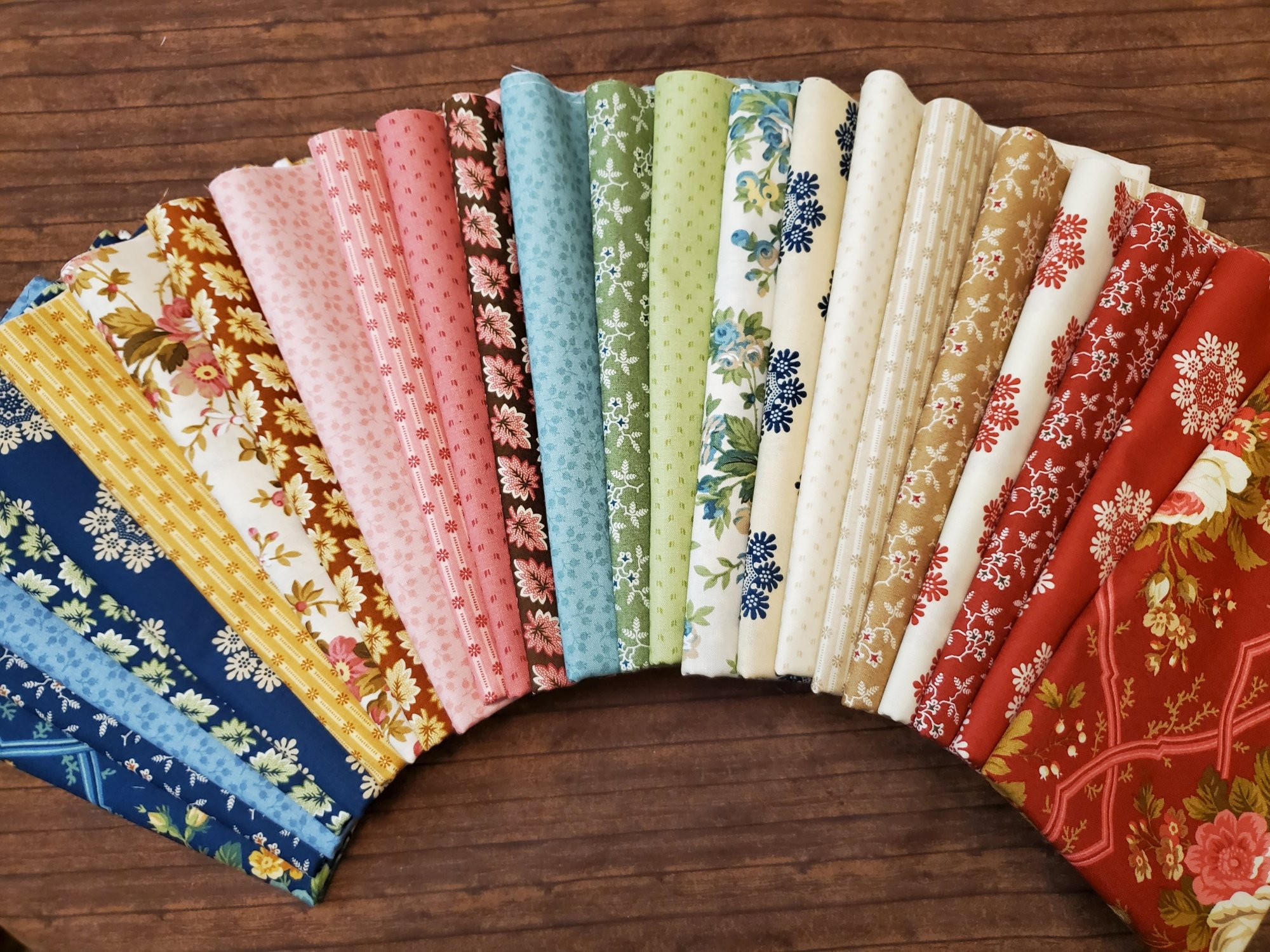 Agatha's Garden by Kathy Hall for Andover - 24 Piece Half Yard Bundle Pack