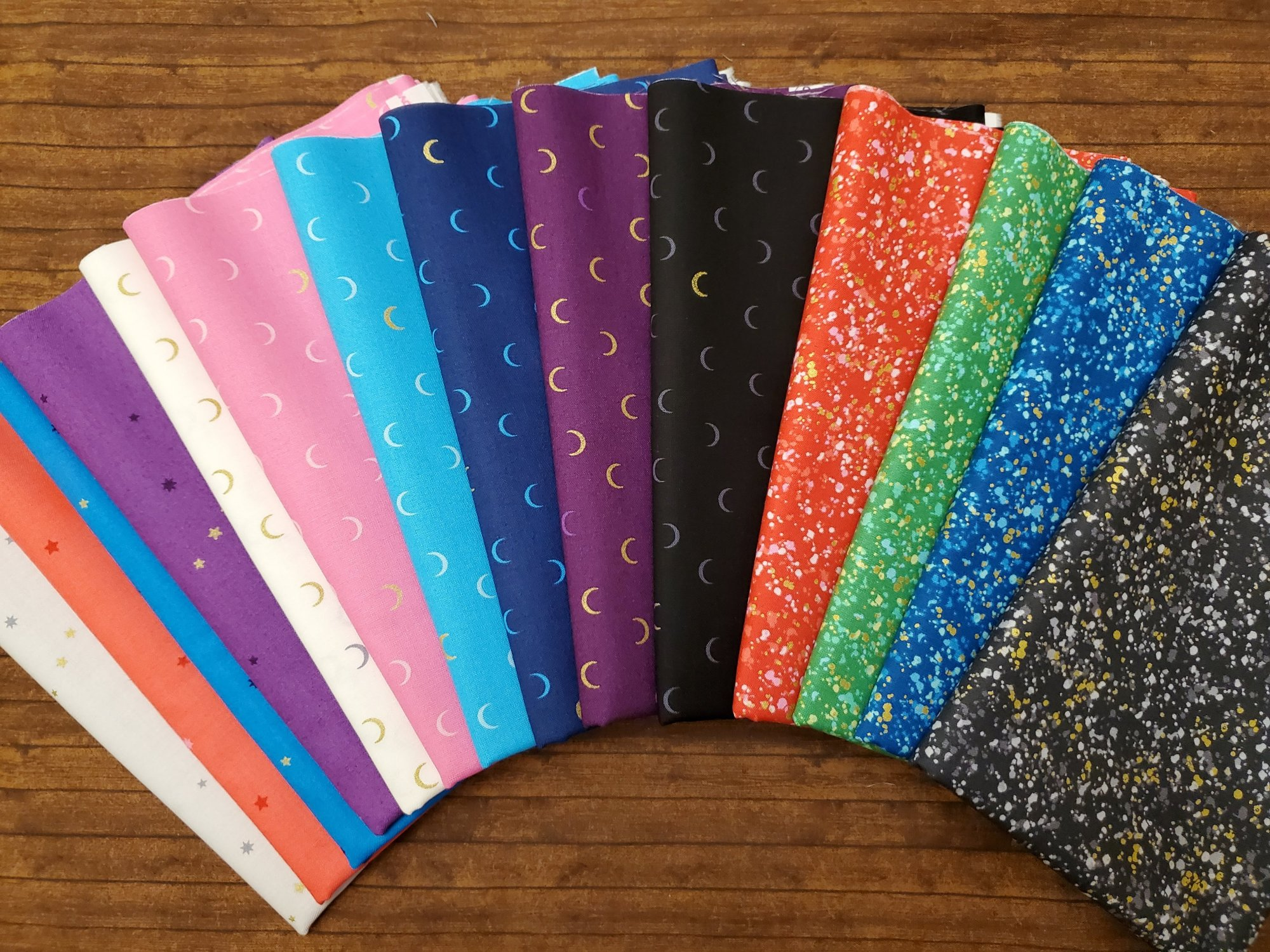 Greatest Hits by Andover  #2- Moons, Stars and More - 14 Piece Half Yard Bundle Pack