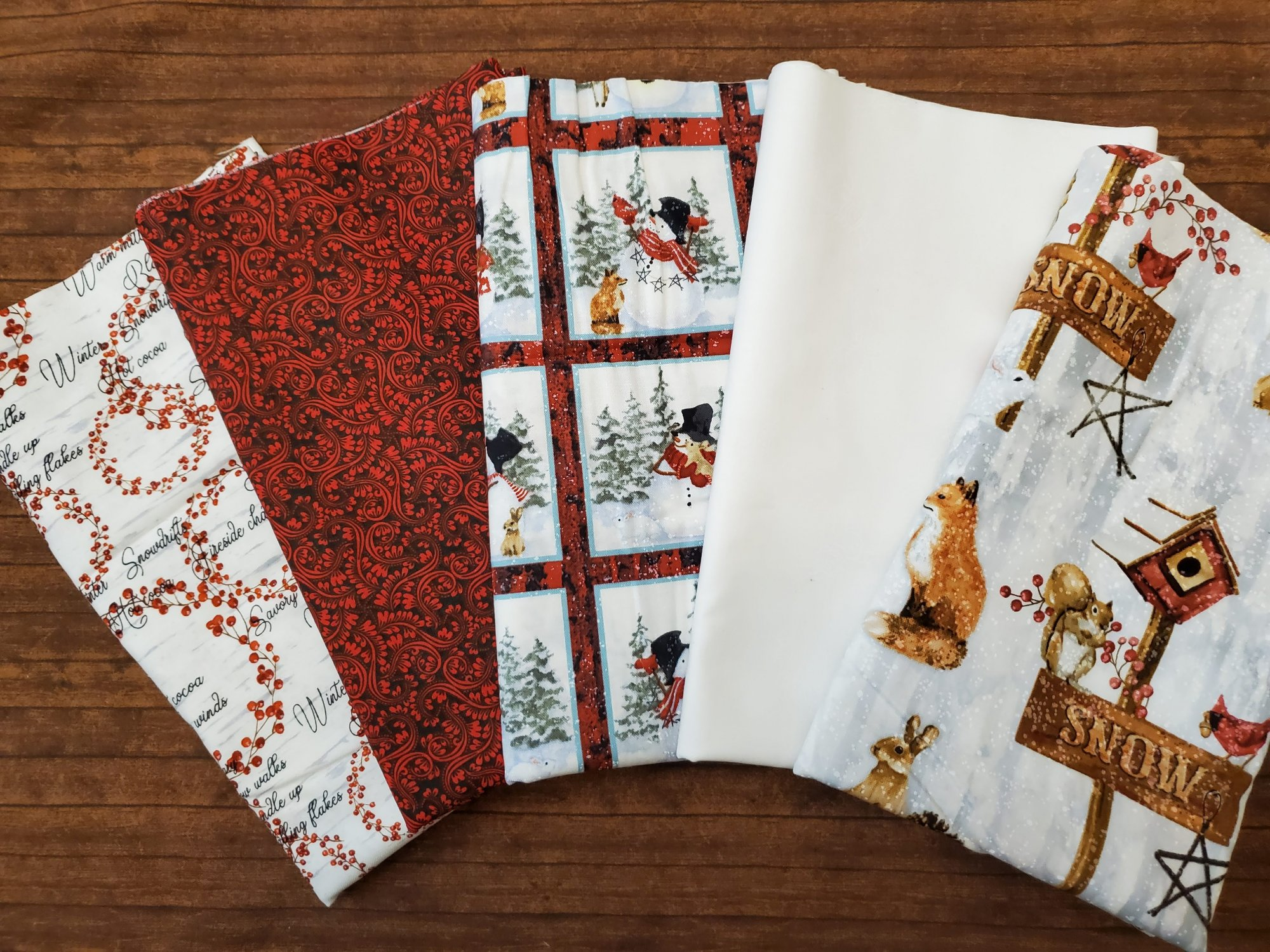 FULL YARDS: Snow Days by Barb Tourtillotte for Henry Glass Fabrics - a Winter Collection
