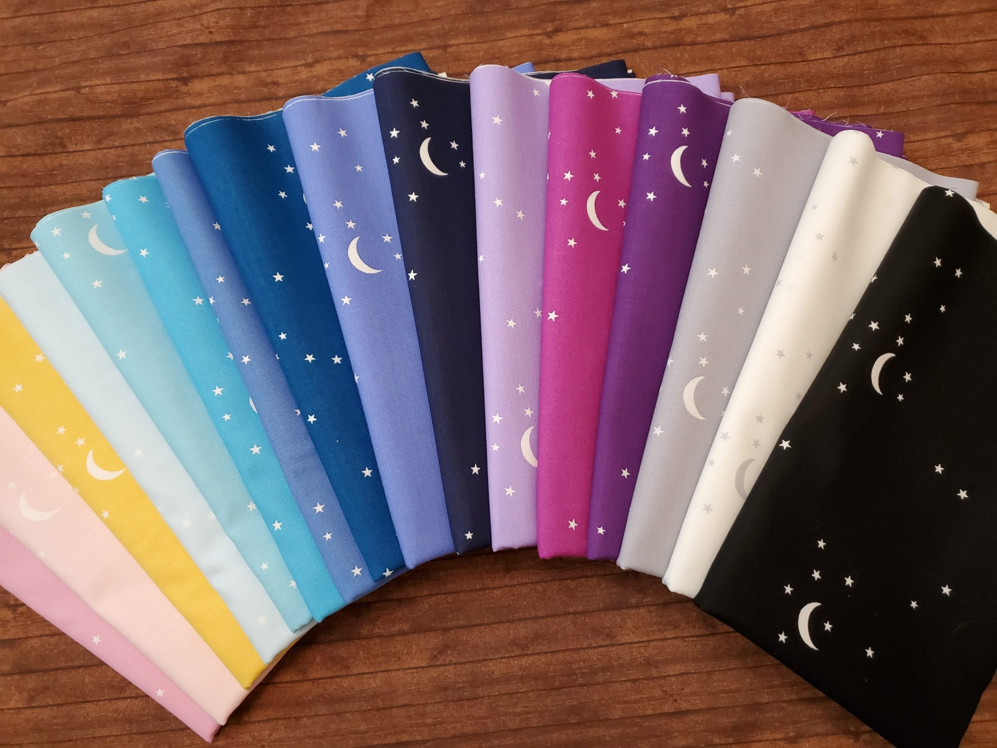 Moon and Stars by Andover Fabrics - 16 Piece Half Yard Bundle Pack
