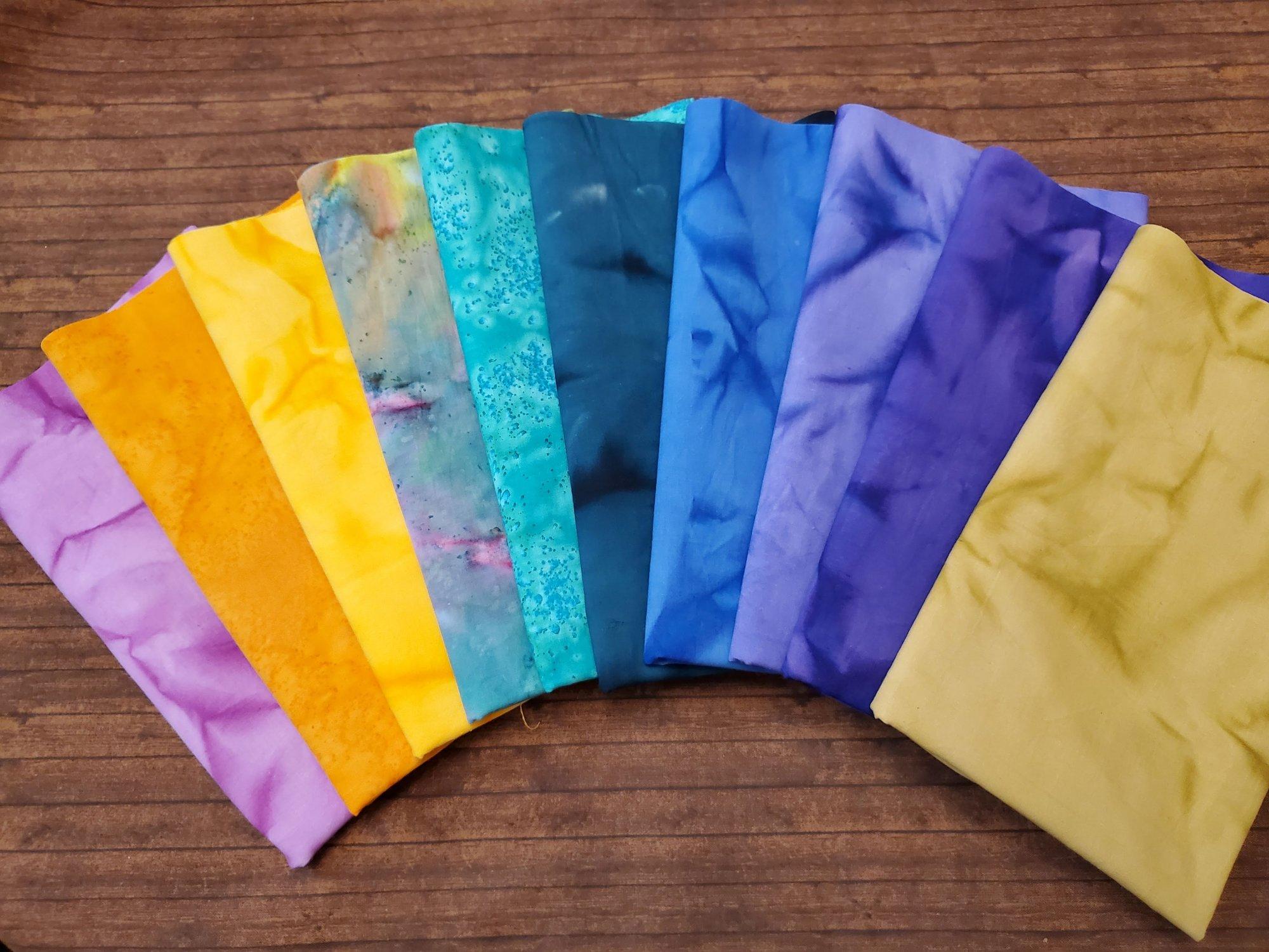 Tie Dye #4 - Rachael's Picks - 10 Piece  Half Yard Bundle Pack
