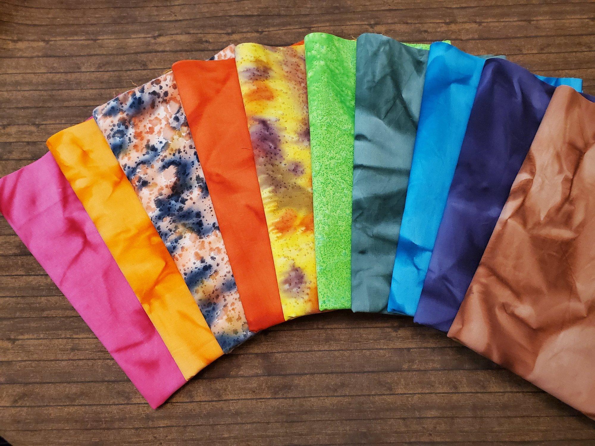 Tie Dye #6 - Rachael's Picks - 10 Piece  Half Yard Bundle Pack