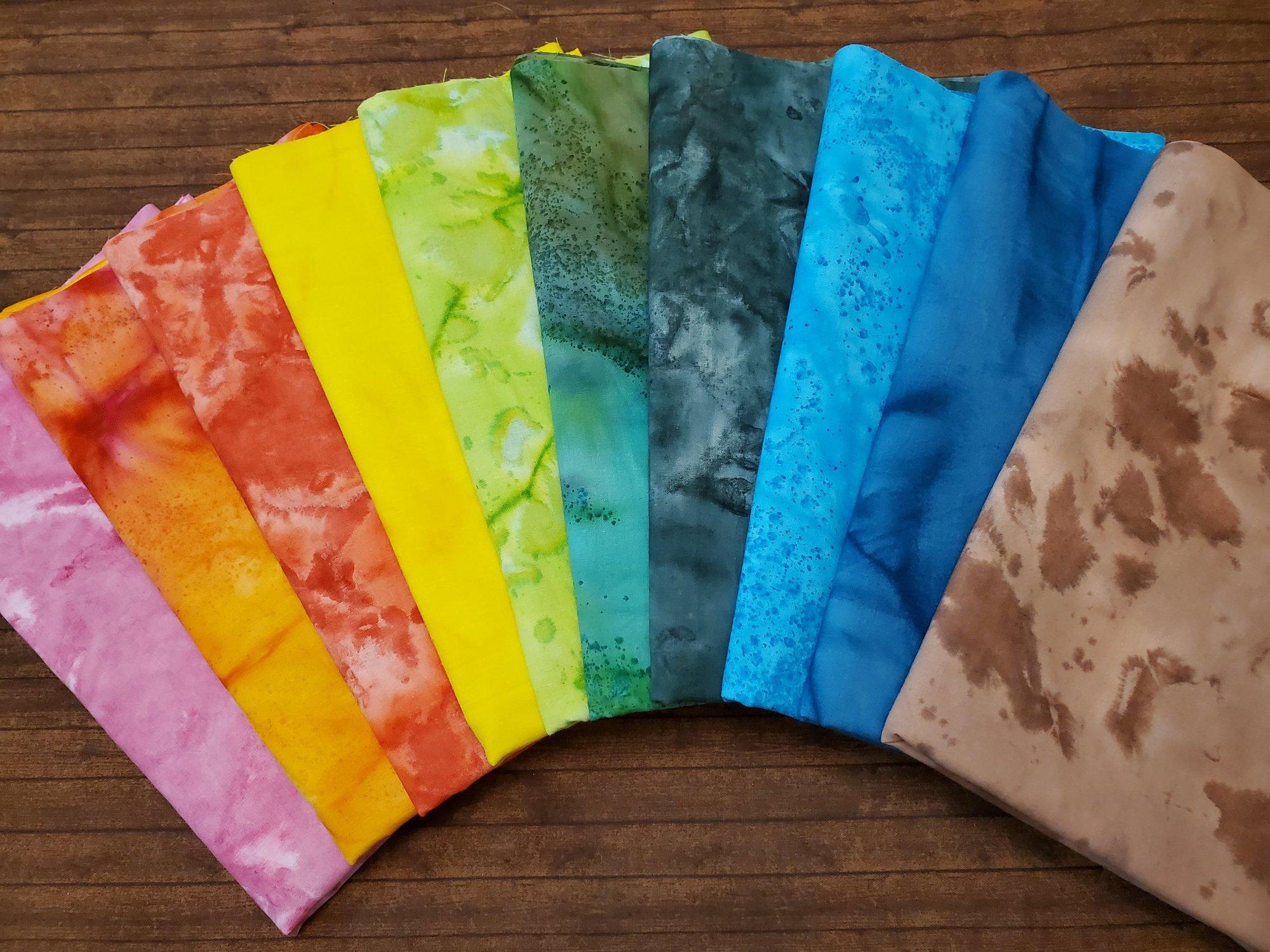 Tie Dye #8 - Rachael's Picks - 10 Piece  Half Yard Bundle Pack