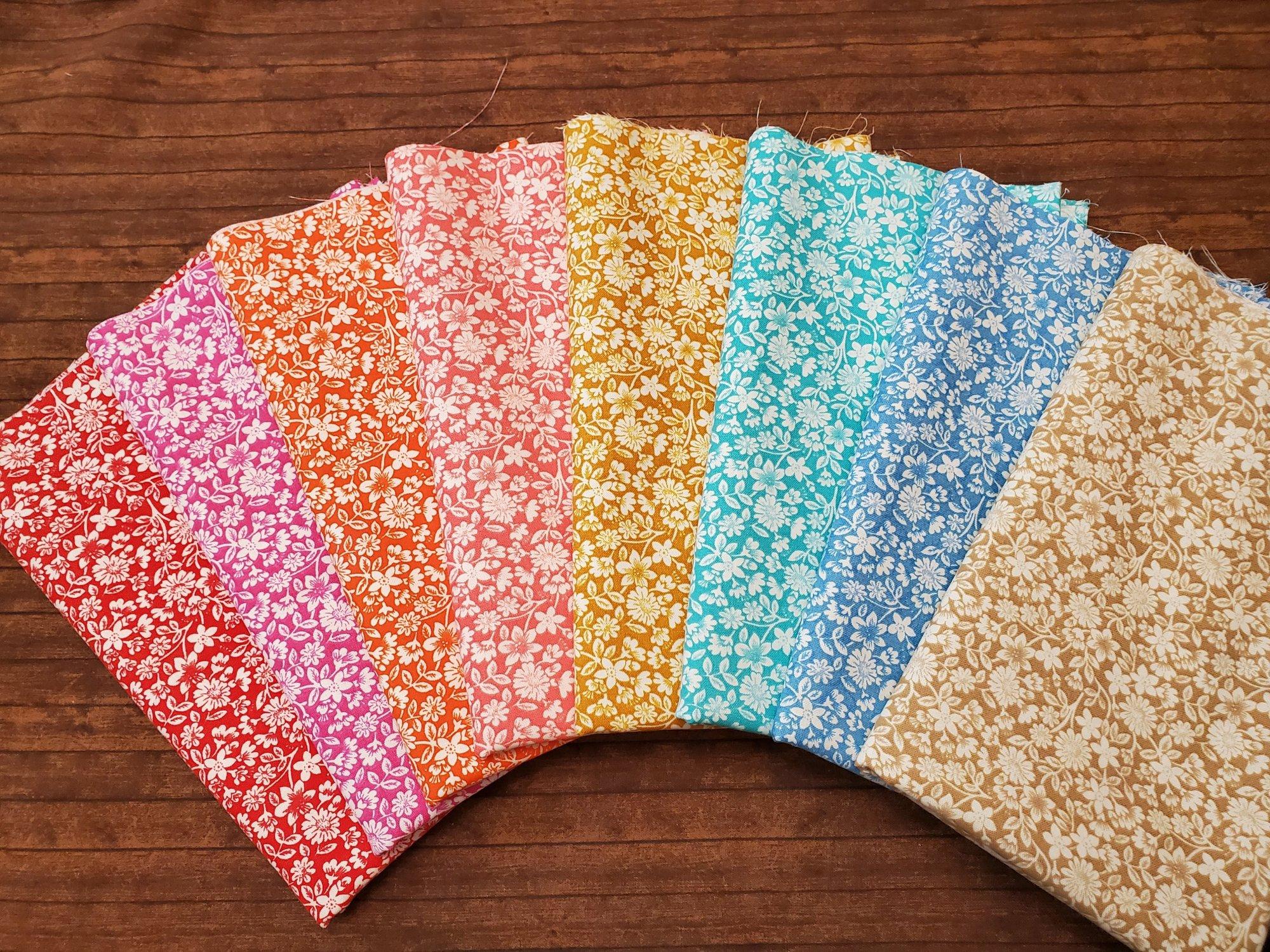 Packed Bloomin' Flowers - Rachael's Picks -8 Piece Half Yard Bundle Pack