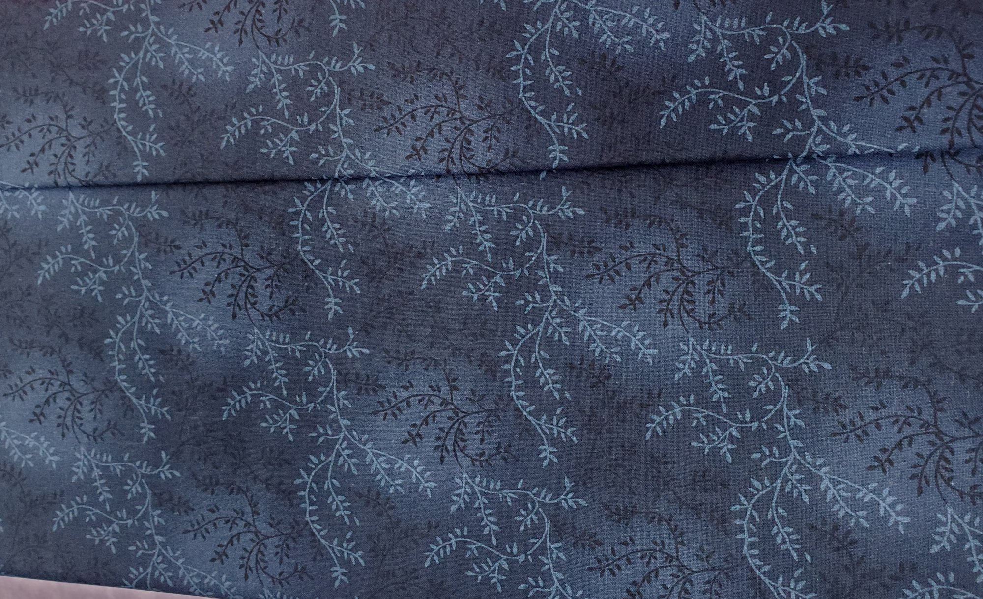 3 Yard Backing Piece: 108 Wide Navy Blue Variegated Branches in a single 3 yard piece
