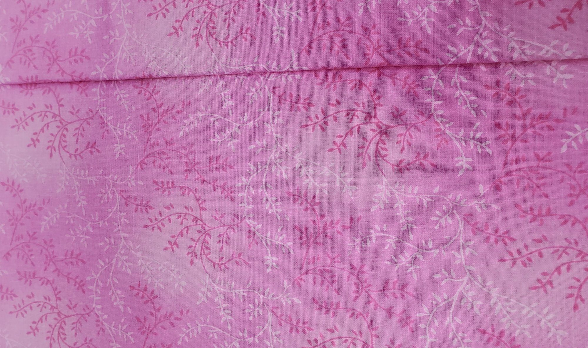 3 Yard Backing Piece: 108 Wide Pink Variegated Branches in a single 3 yard piece