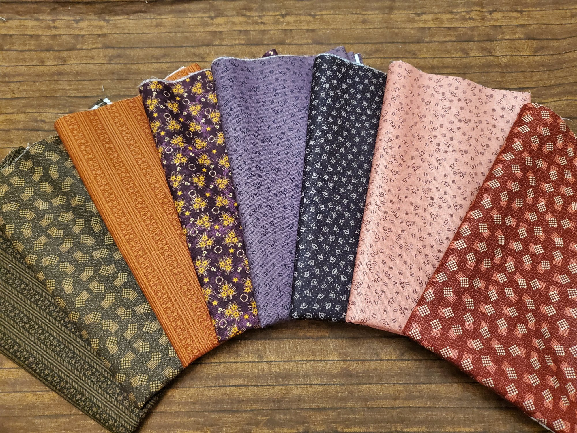 Abby's Treasures by Missie Carpenter for Blank Quilting - 8 Piece Half Yard Bundle Pack