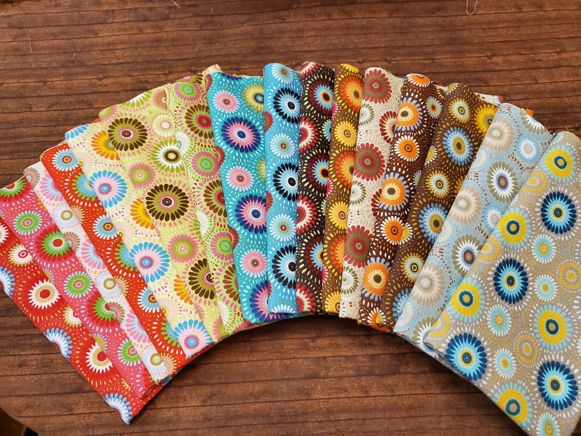 Colors Exploding - Rachael's Picks - 16 Piece Half Yard Bundle
