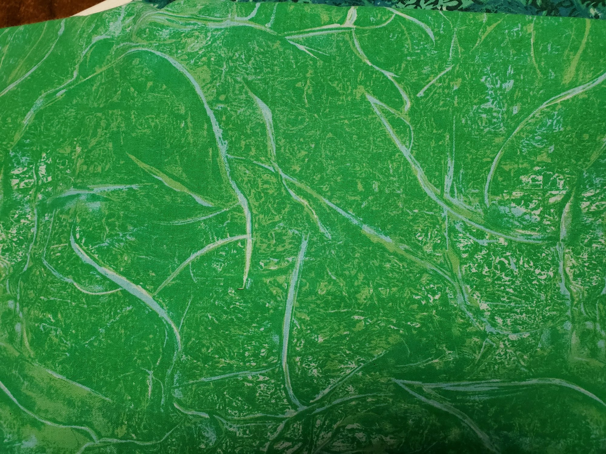 3 Yard Backing Piece: 108 Wide Kelly Green Branches in the Woods in a single 3 yard piece