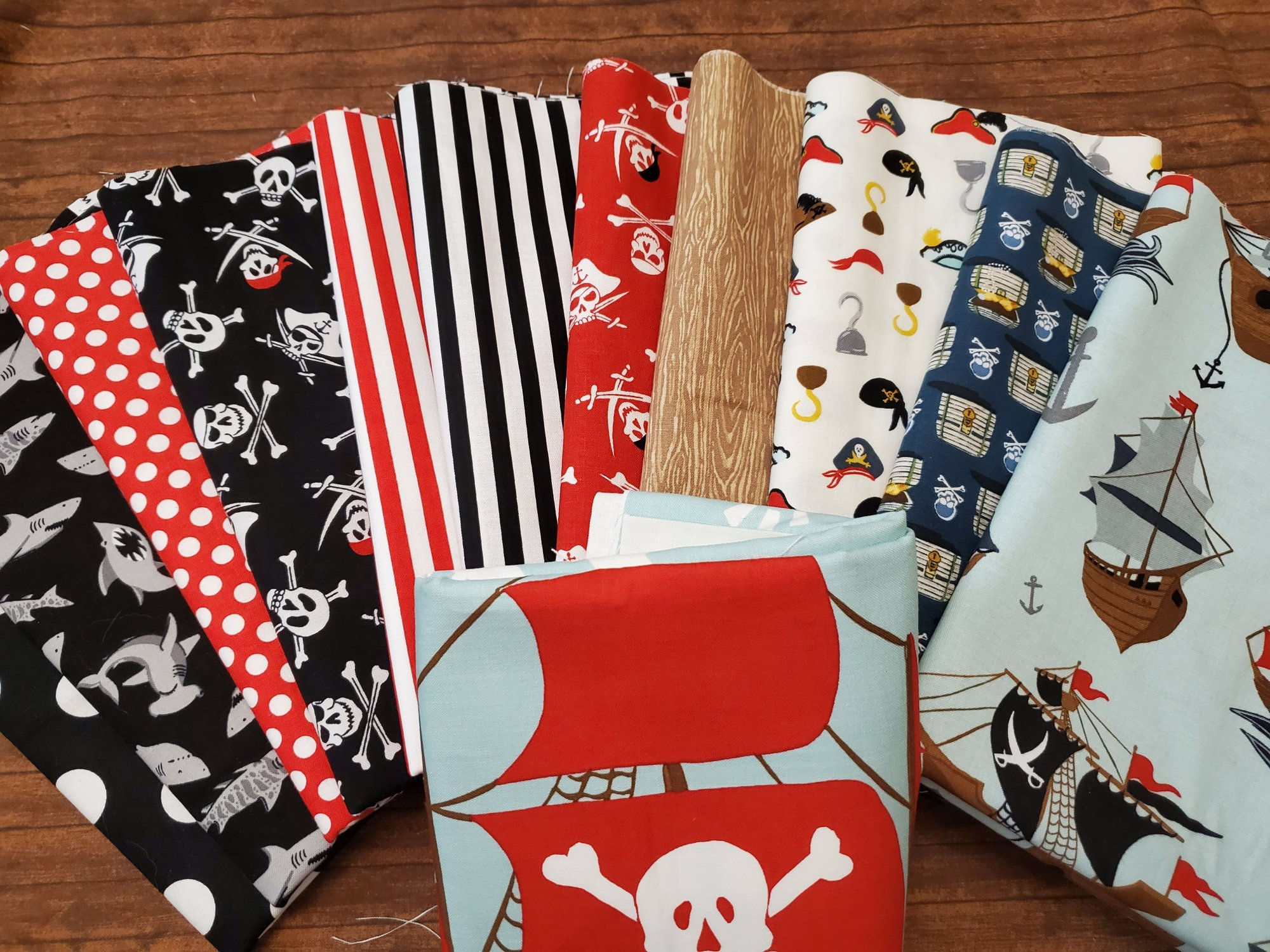 Pirate Tales by Echo Park Paper for Riley Blake - 11 Piece Half Yard Bundle Pack + Panel
