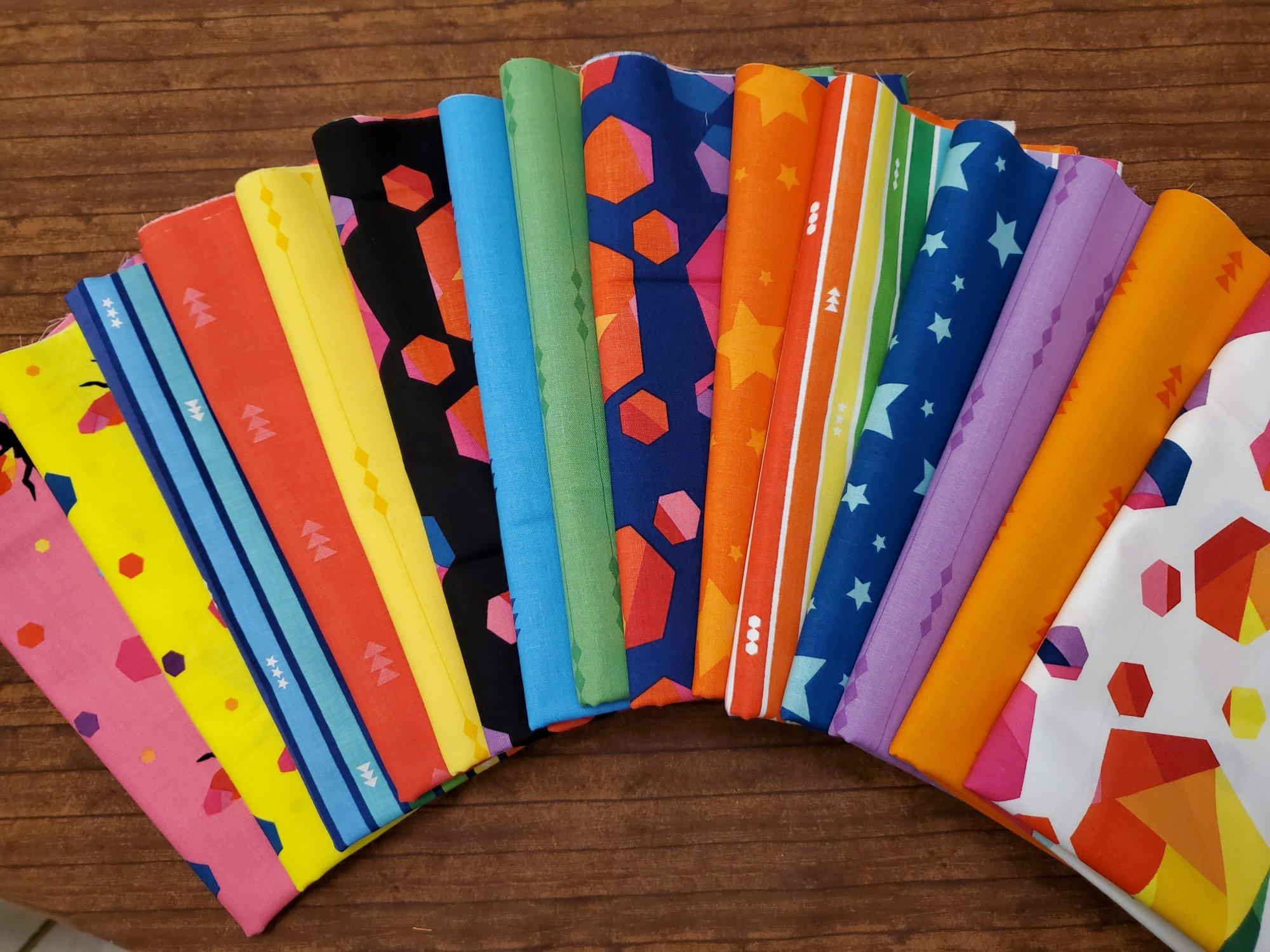 Create - by Kristy Lea for Riley Blake Designs - 15 Piece Half Yard Bundle Pack