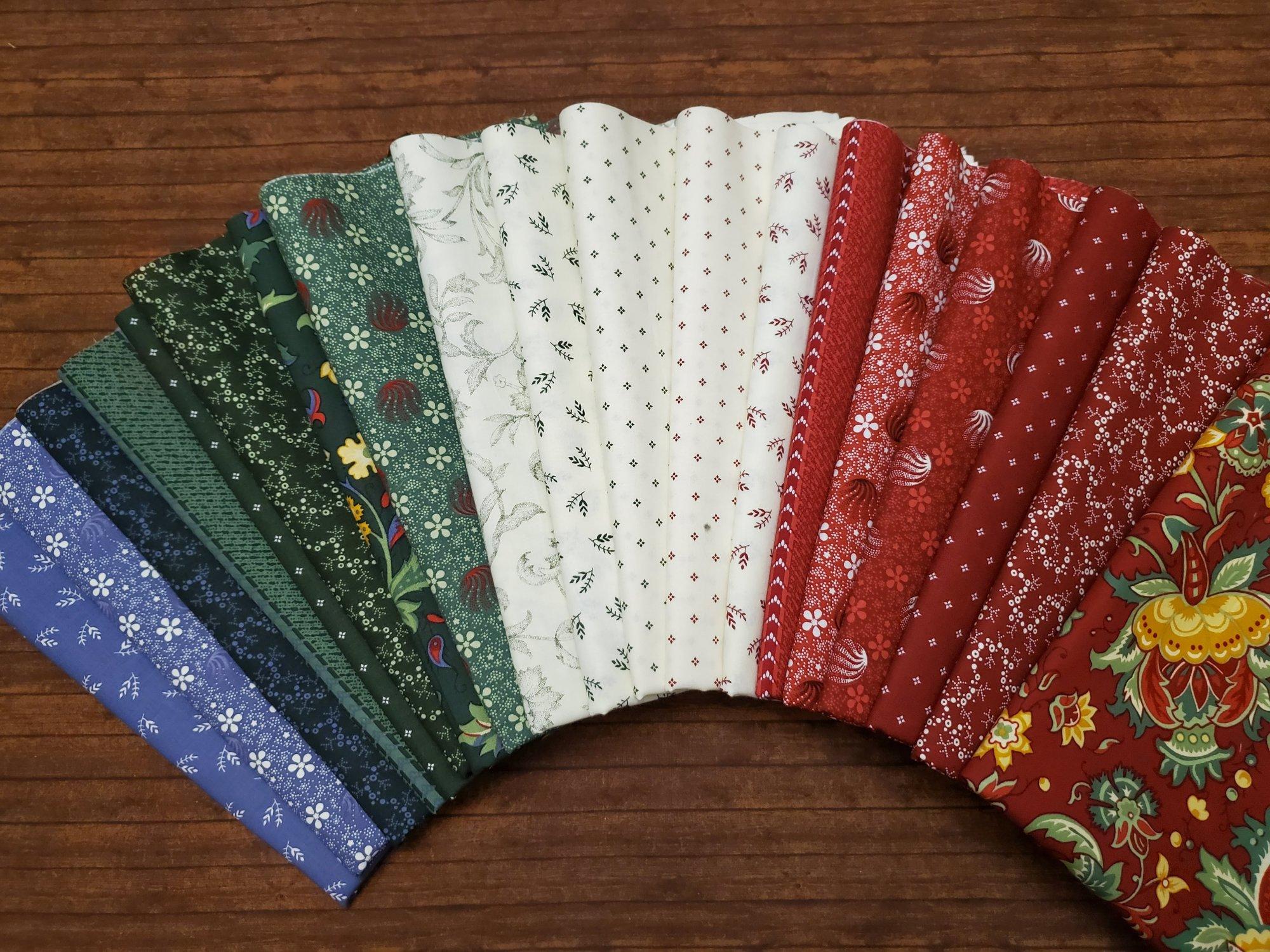 Winter Tide by Sharon McCloskey for Clothworks - 19 Piece Half Yard Bundle Pack