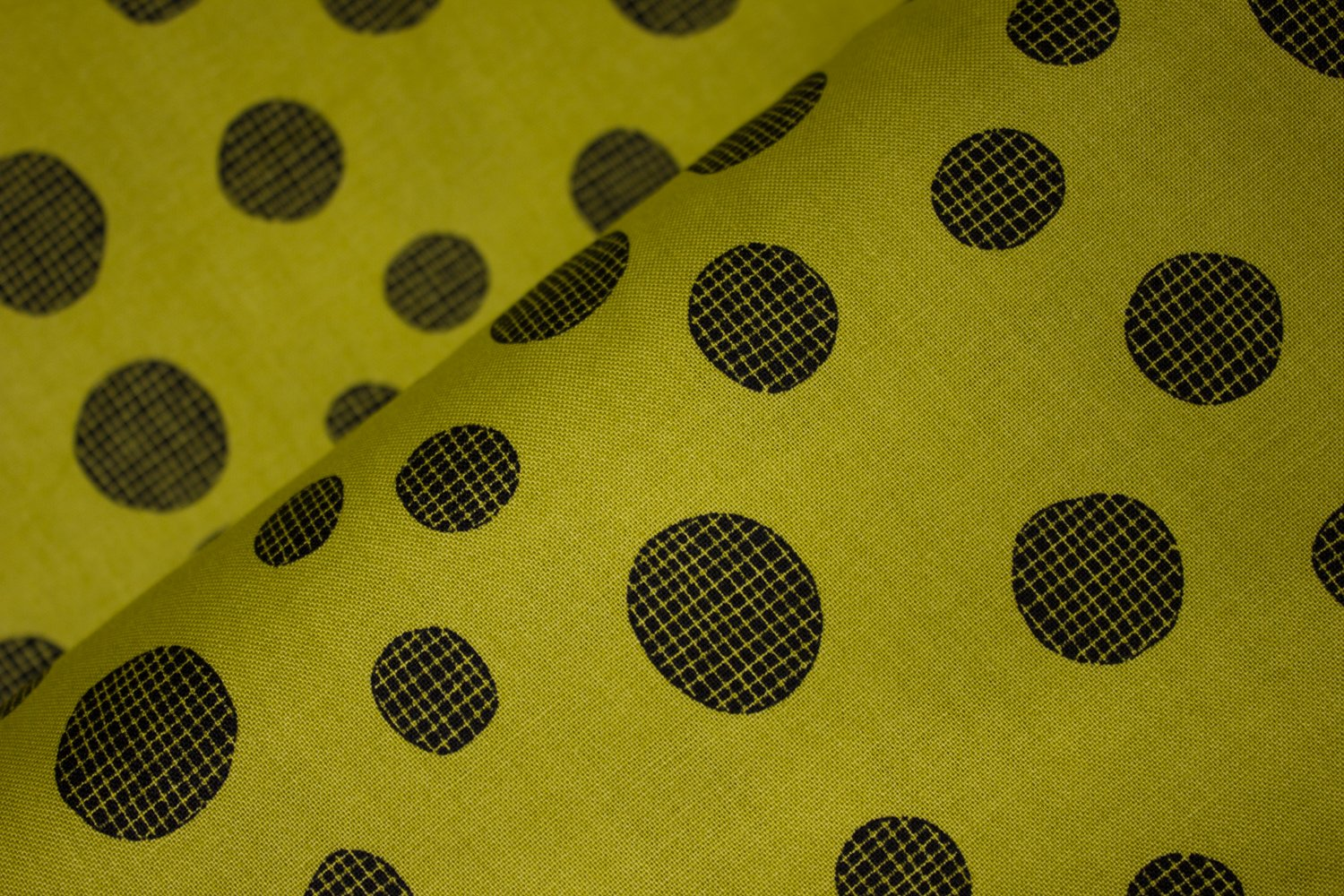 Black Gridded Circles on Olive Green:  Summer Daze - Circles by Nutex