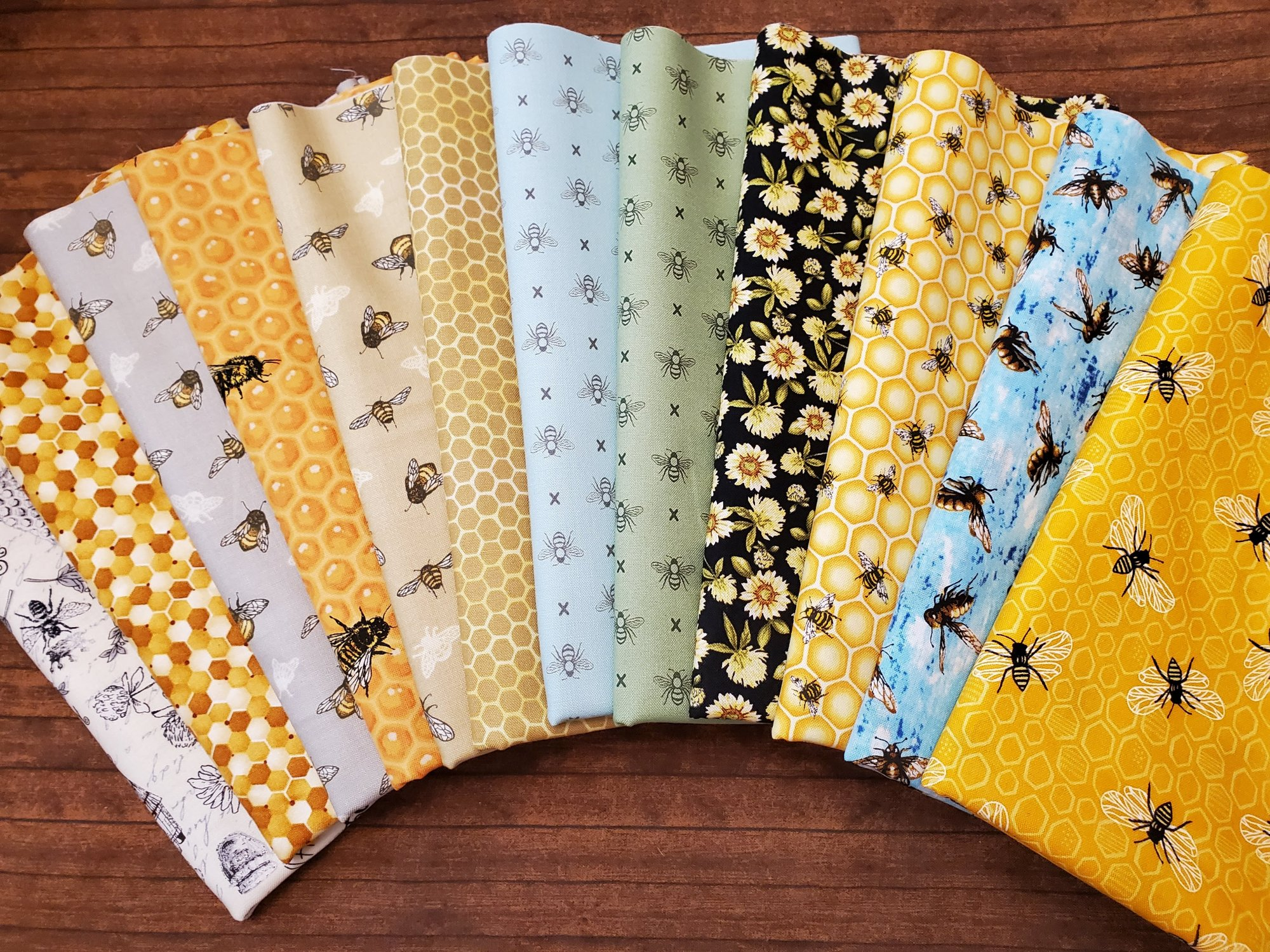 The Bees are Buzzing -12 Piece Half Yard Bundle Pack
