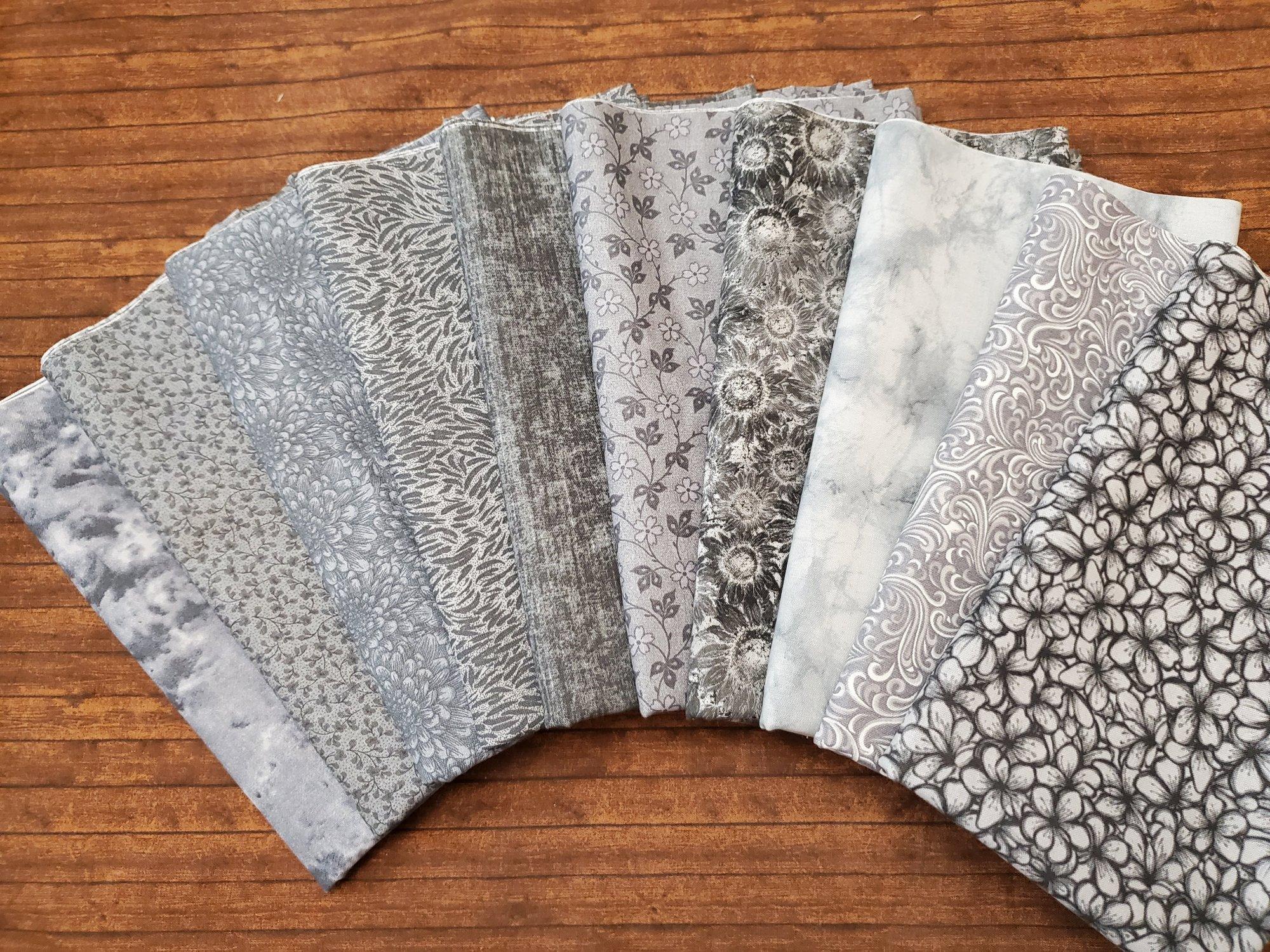 Mixed Grays - Rachael's Picks - 10 Piece Half Yard Bundle Pack