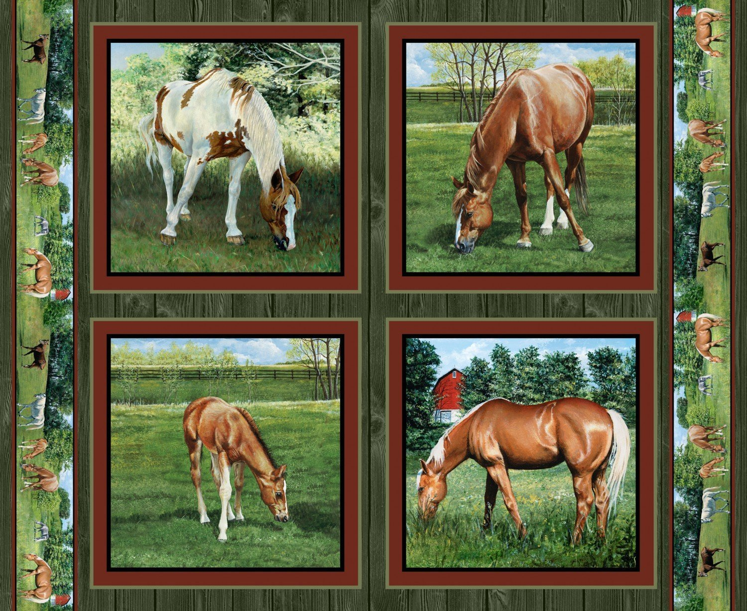 Valley Crest Horses Pillow Panel - Wild Wings by Springs Creative