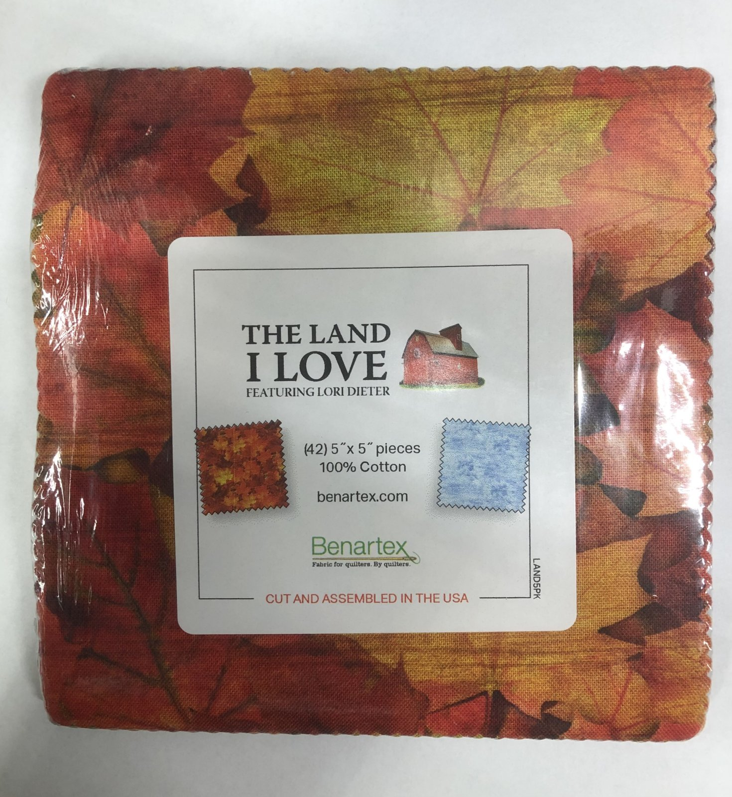 The Land I Love:  5 x 5 Squares - 42 piece Fabric Square Pack from Benartex