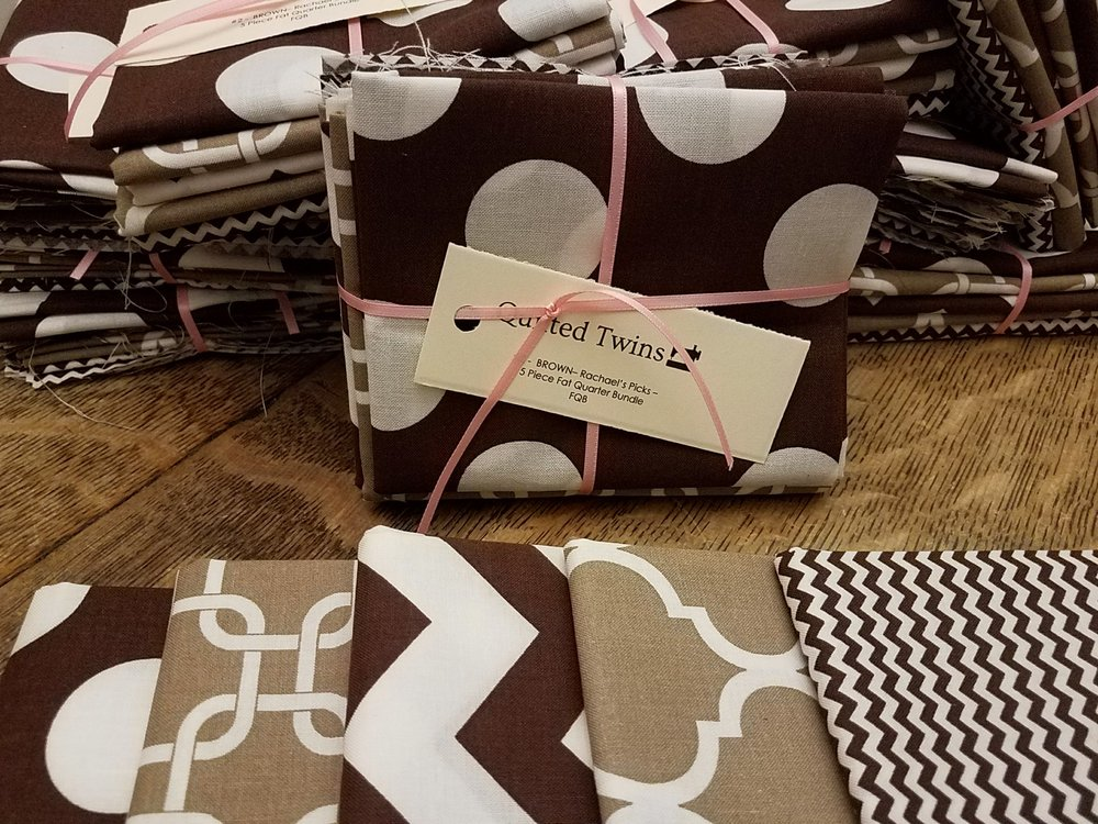 Brown Geometrics #2 - Rachael's Picks - 5 Pack Fat Quarter Bundle