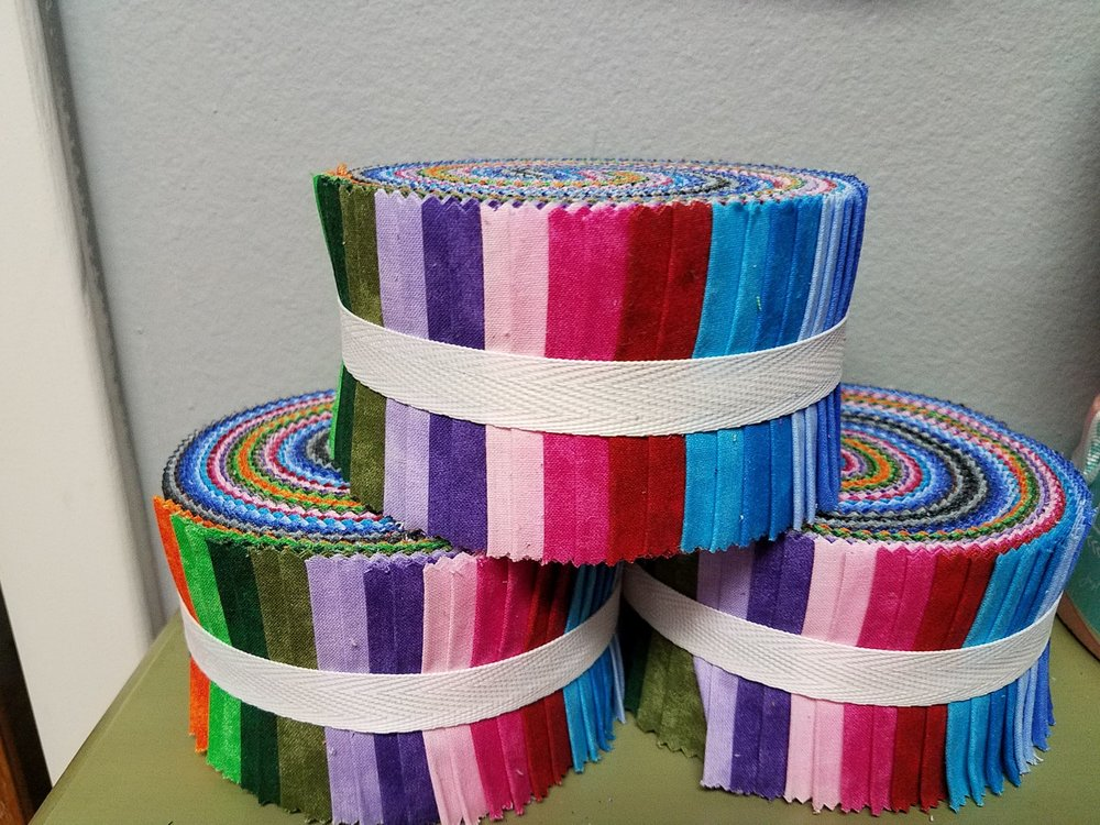 2.5 inch STRIPS:  Basic Blenders - 40 piece 2.5 inch Fabric Strips Spiral Pack