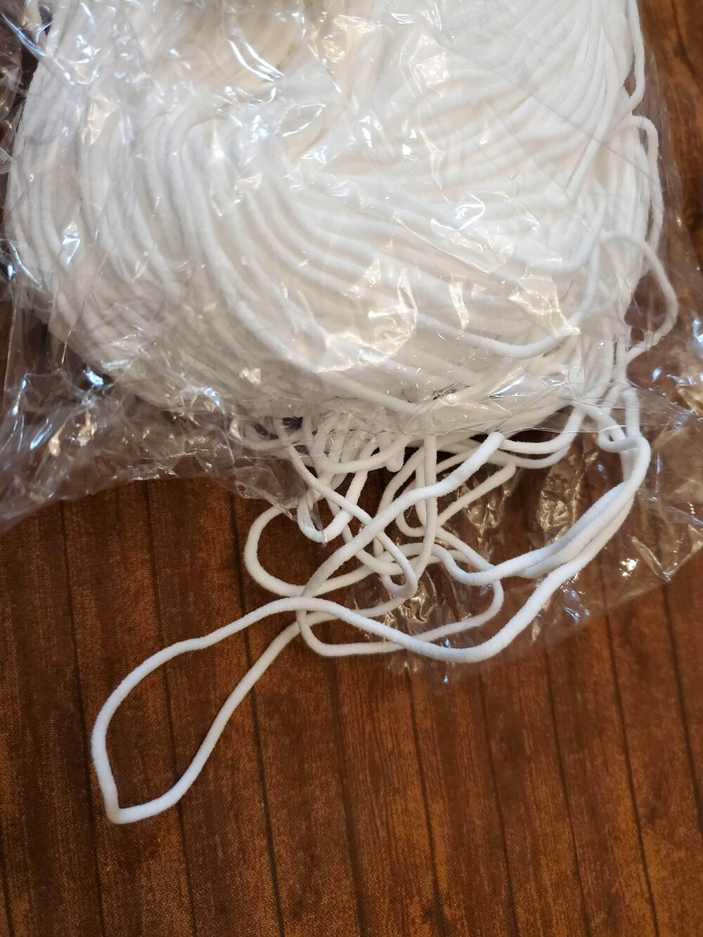 White Elastic Cording - 1/8 - sold by the yard